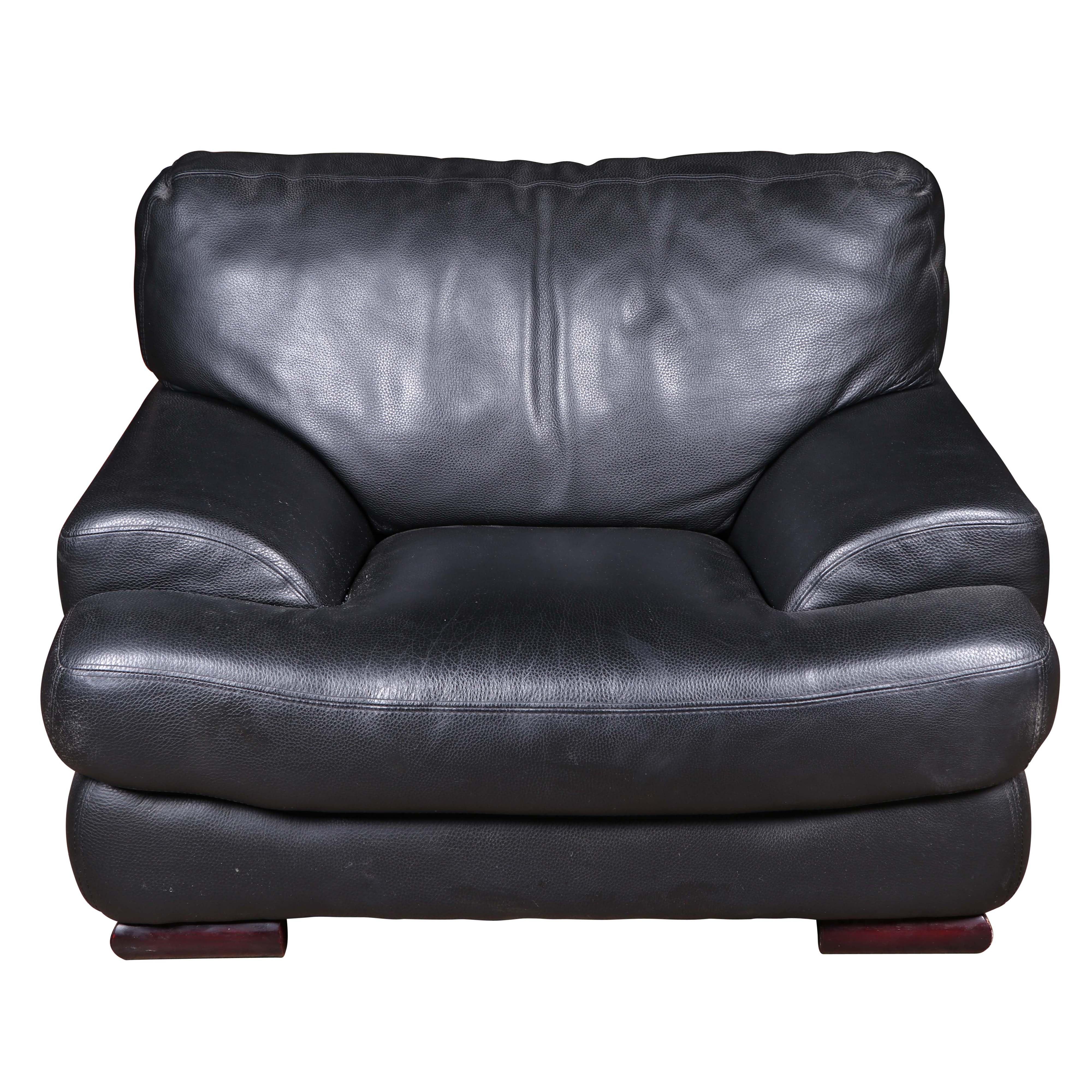 Vinyl Upholstered Oversized Armchair, Late 20th Century