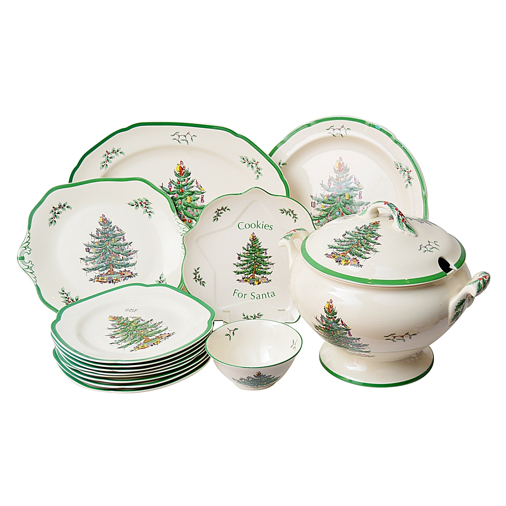 "Spode ""Christmas Tree"" Porcelain Serveware and Dinnerware"