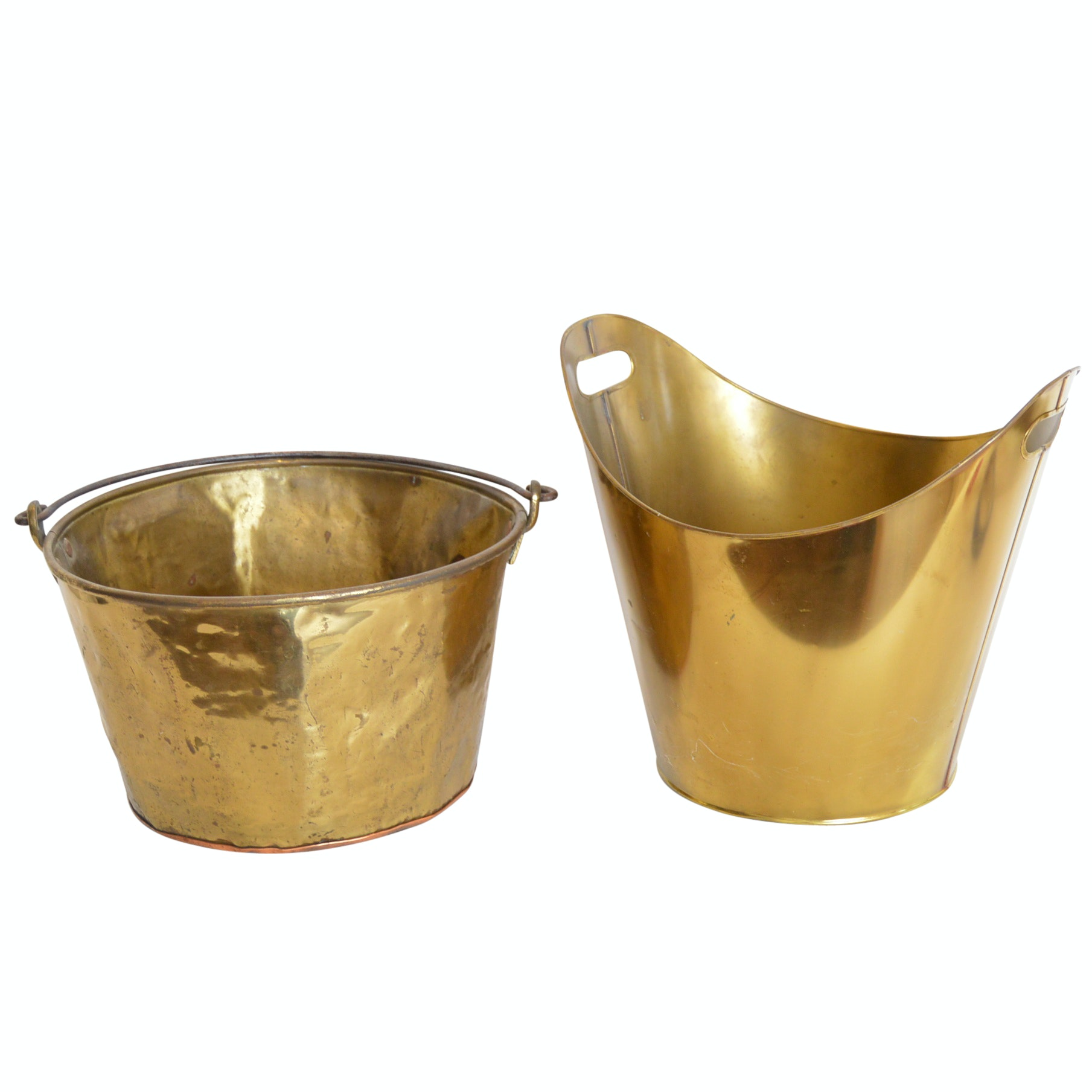 Brass Buckets with Vintage