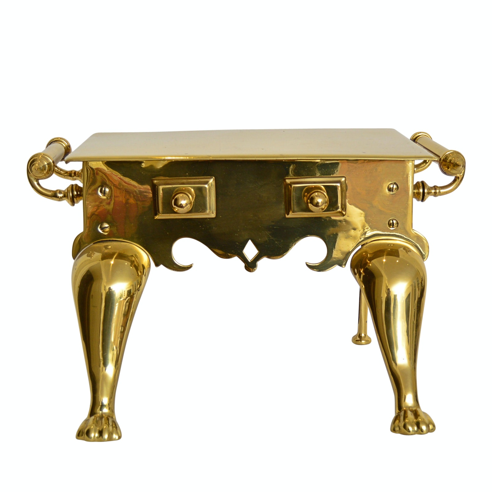 Vintage Brass Hearth Bench