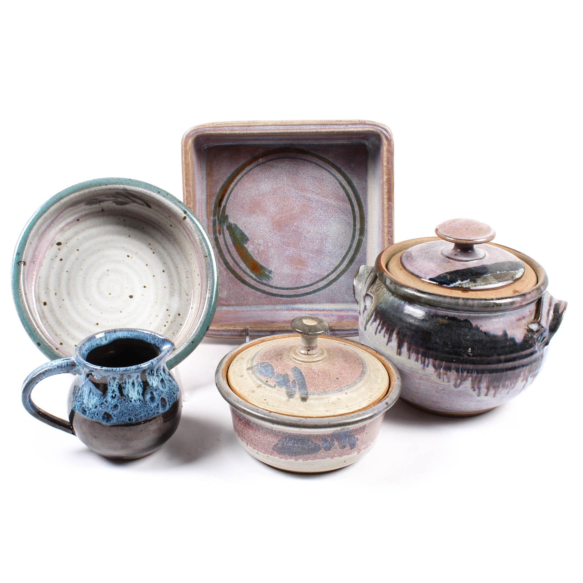 Vintage Artisan Pottery Bakeware