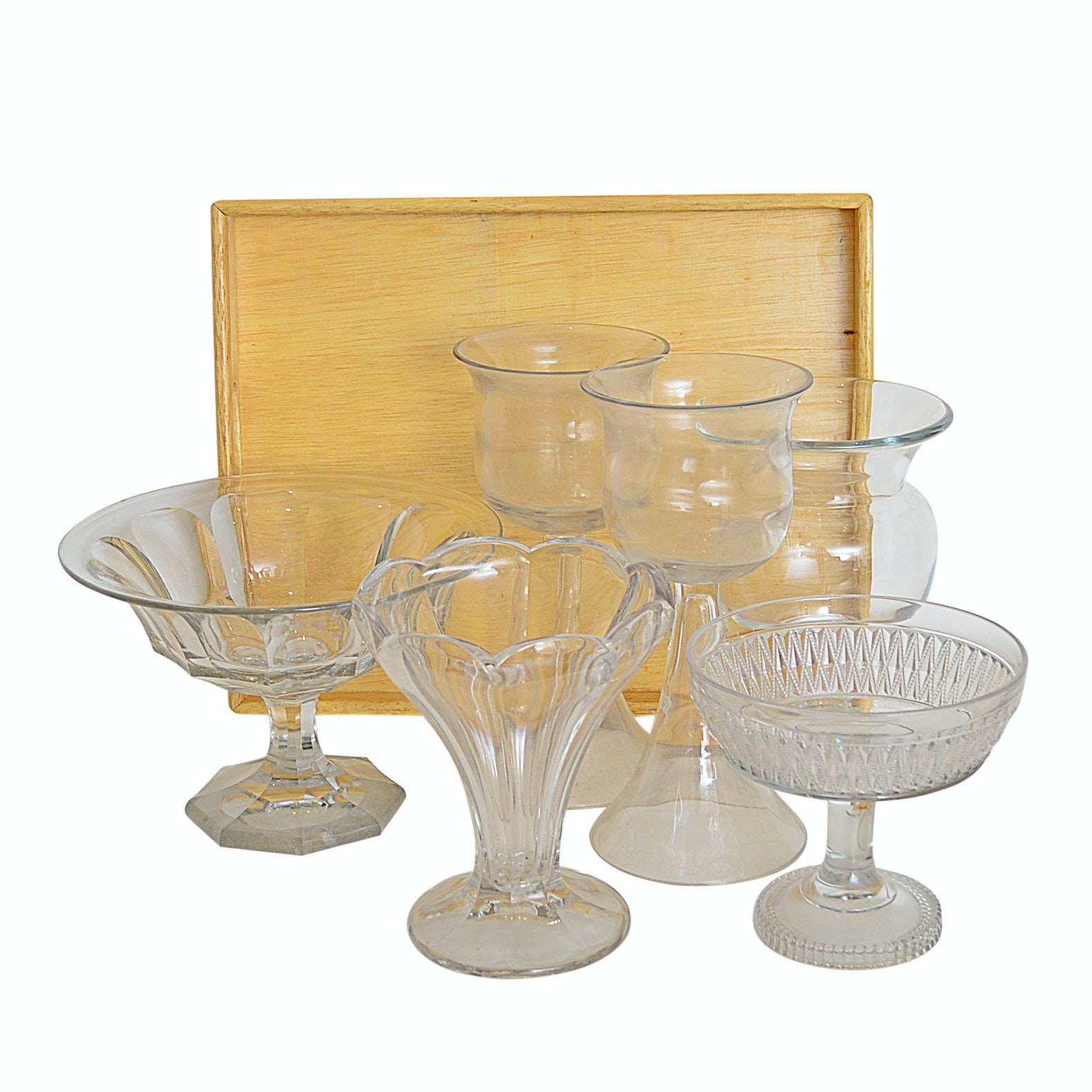 Vintage and Modern Glassware with Dansk Tray