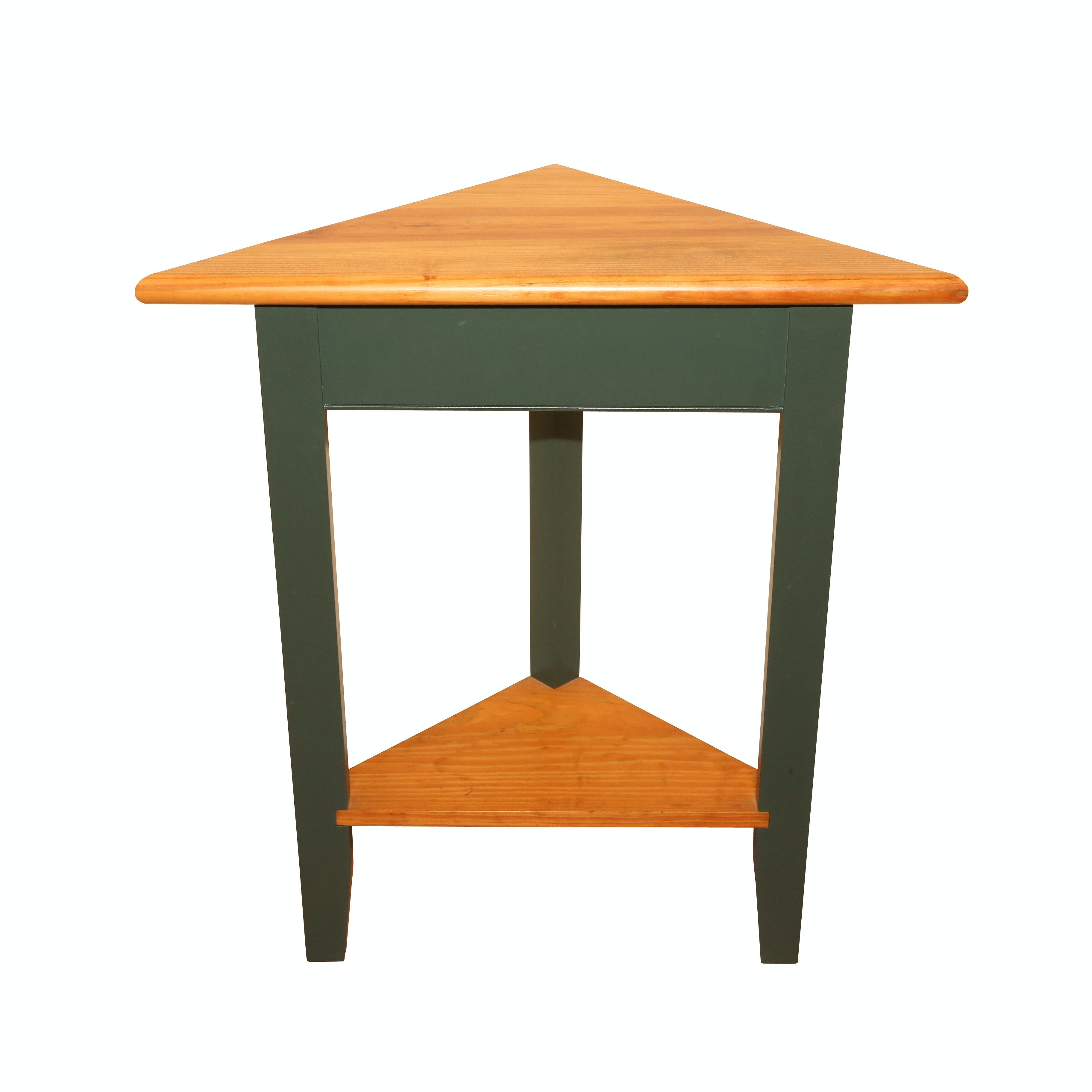 Painted Wood Corner Side Table, 21st Century