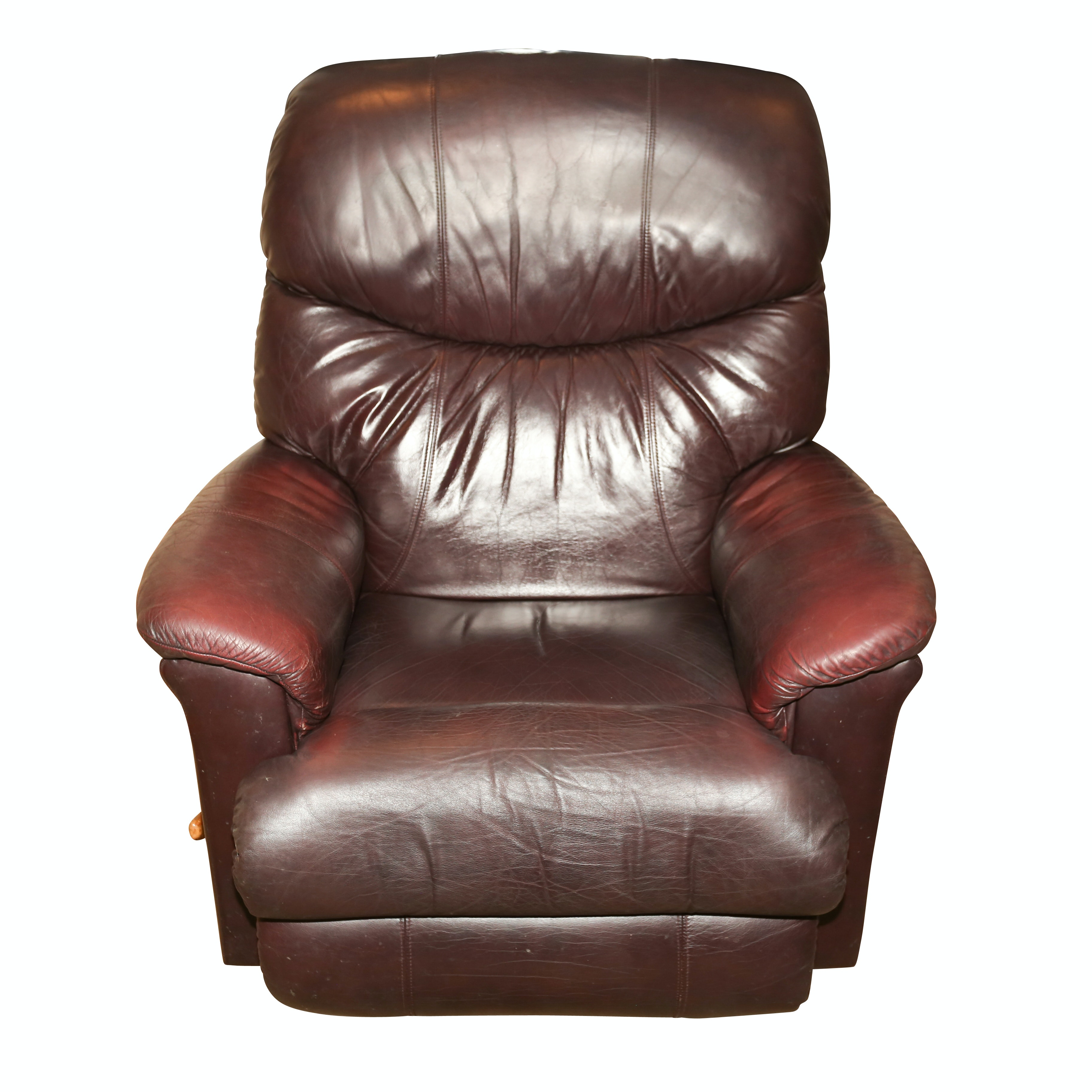 Leather Upholstered Swivel Recliner by La-Z-Boy, 21st Century