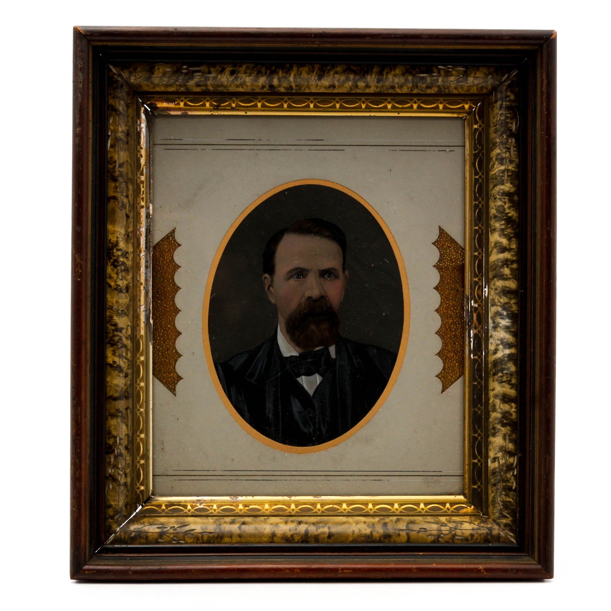 Overpainted Photograph Portrait of a Gentleman, Late 19th Century