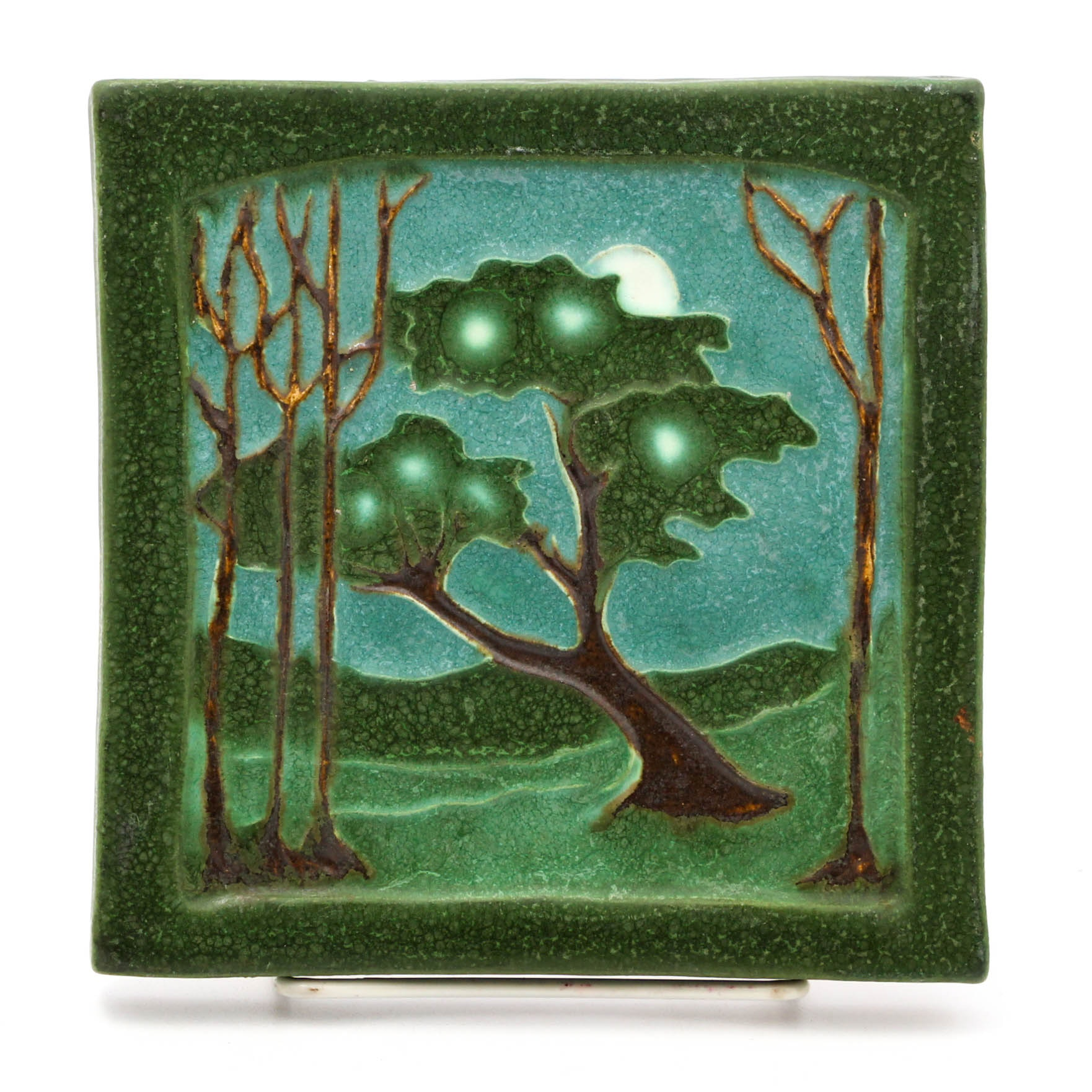 Ephraim Pottery Tile of a Nocturnal Landscape