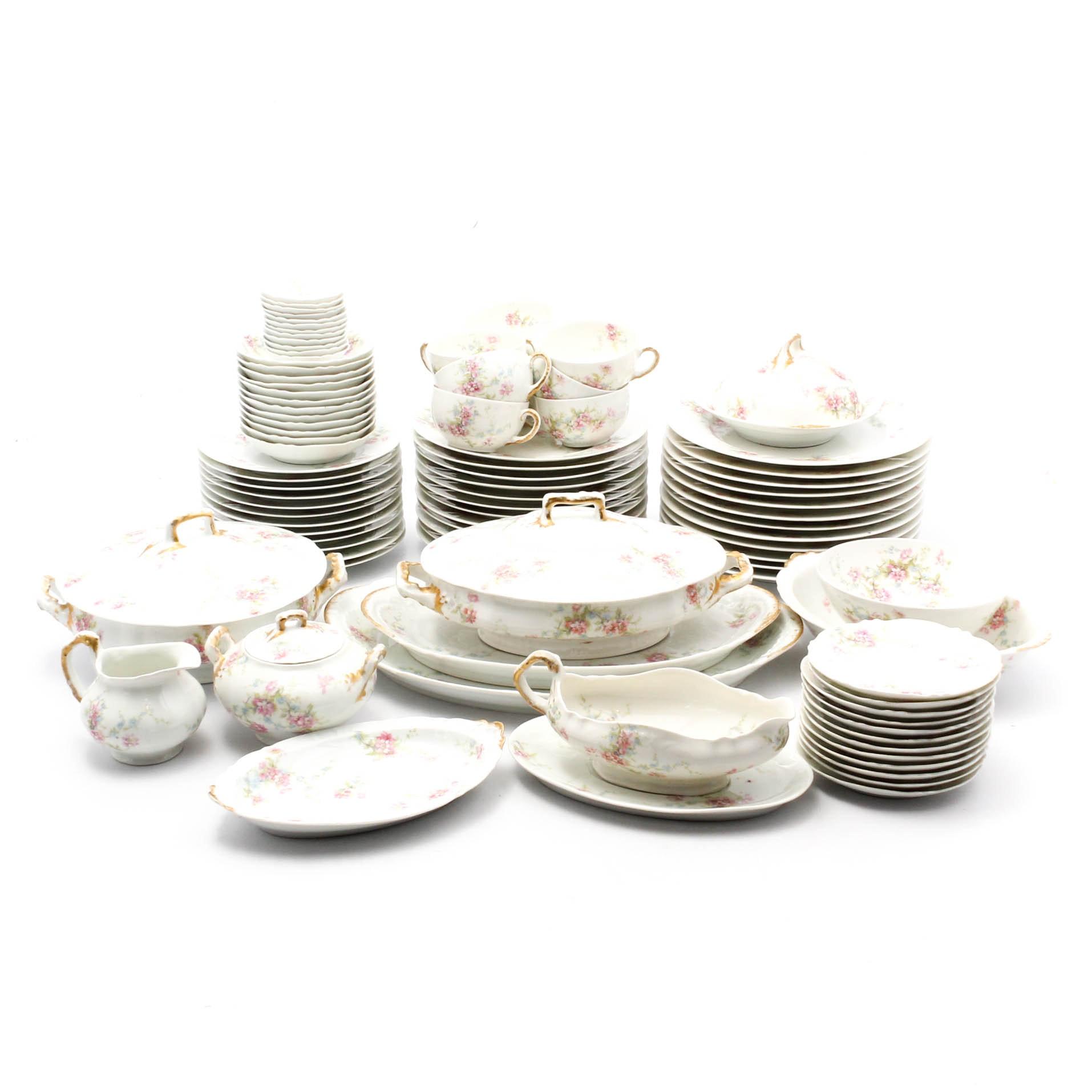 Theodore Haviland Limoges Dinnerware Set for Twelve
