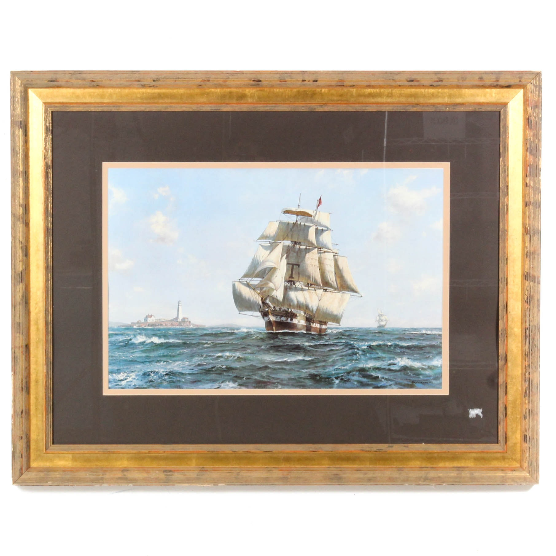 "Roy Cross ""McKay Clipper - Anglo-American"" Offset Lithograph"