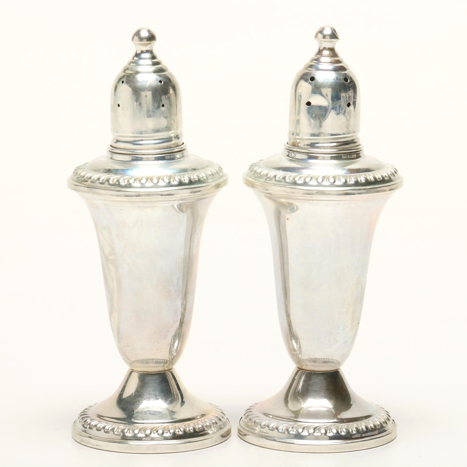 Empire Craft Corp. Weighted Sterling Salt and Pepper Shaker Set, Mid-Century