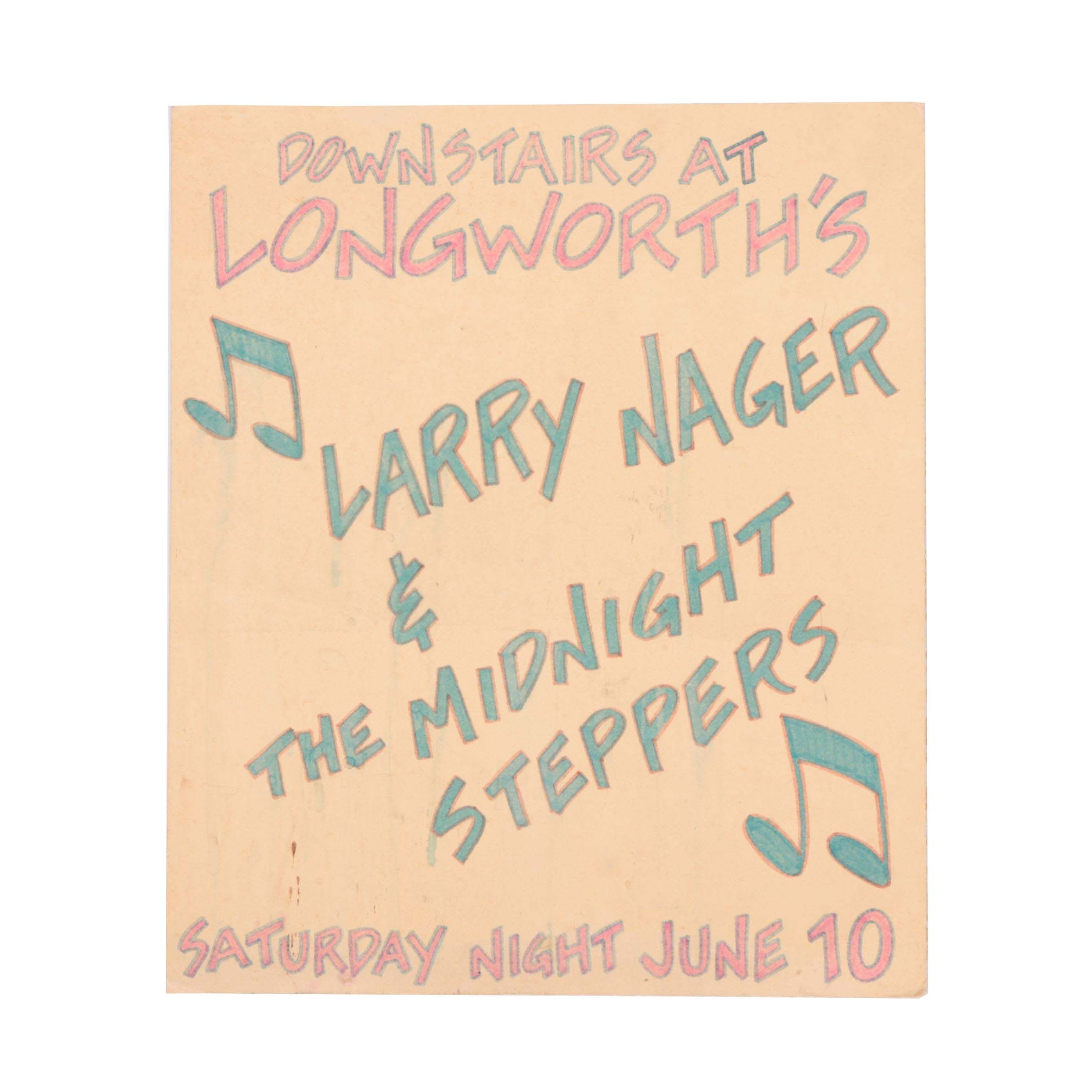 Cardboard Poster for Larry Nager & The Midnight Steppers