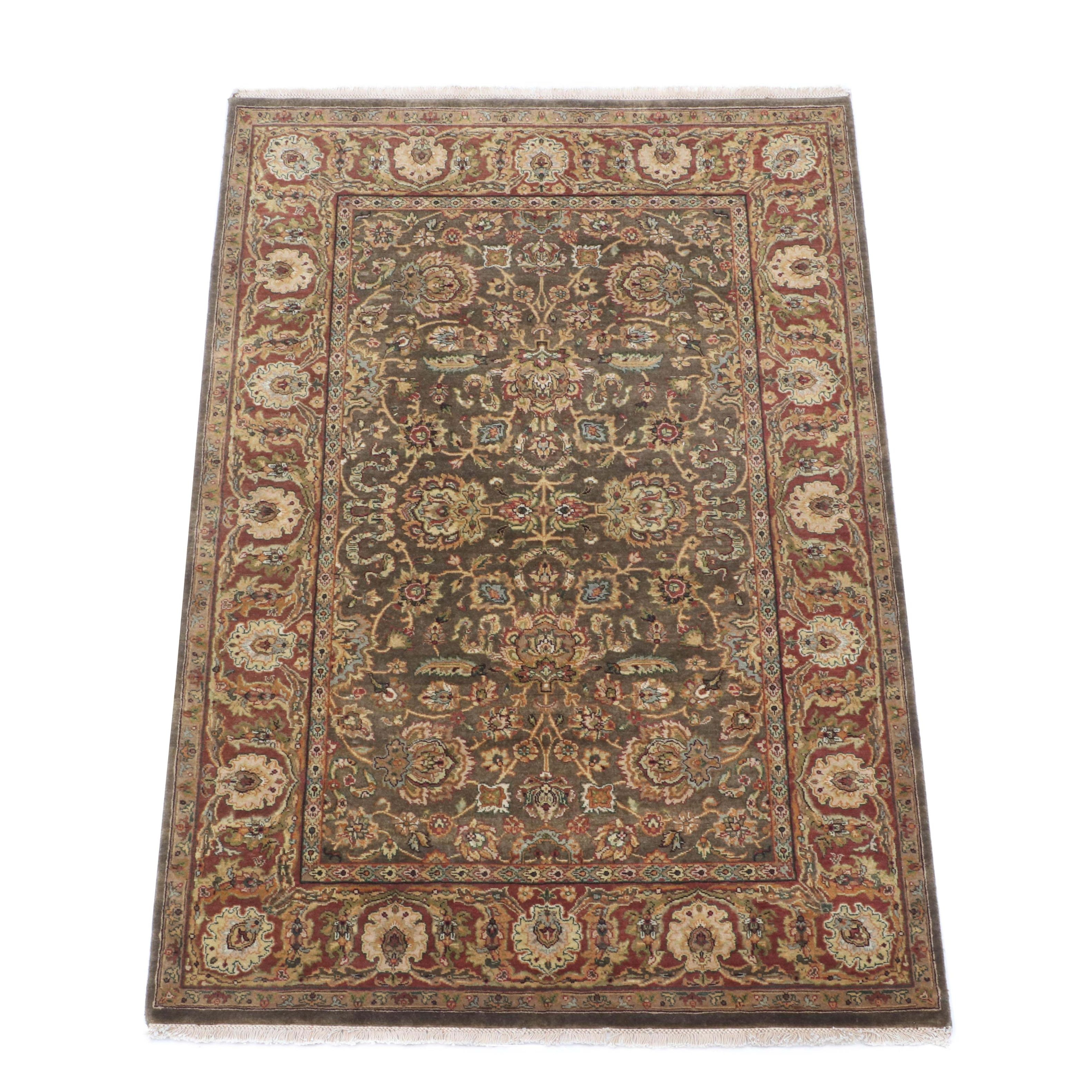 Hand-Knotted Indo-Persian Area Rug