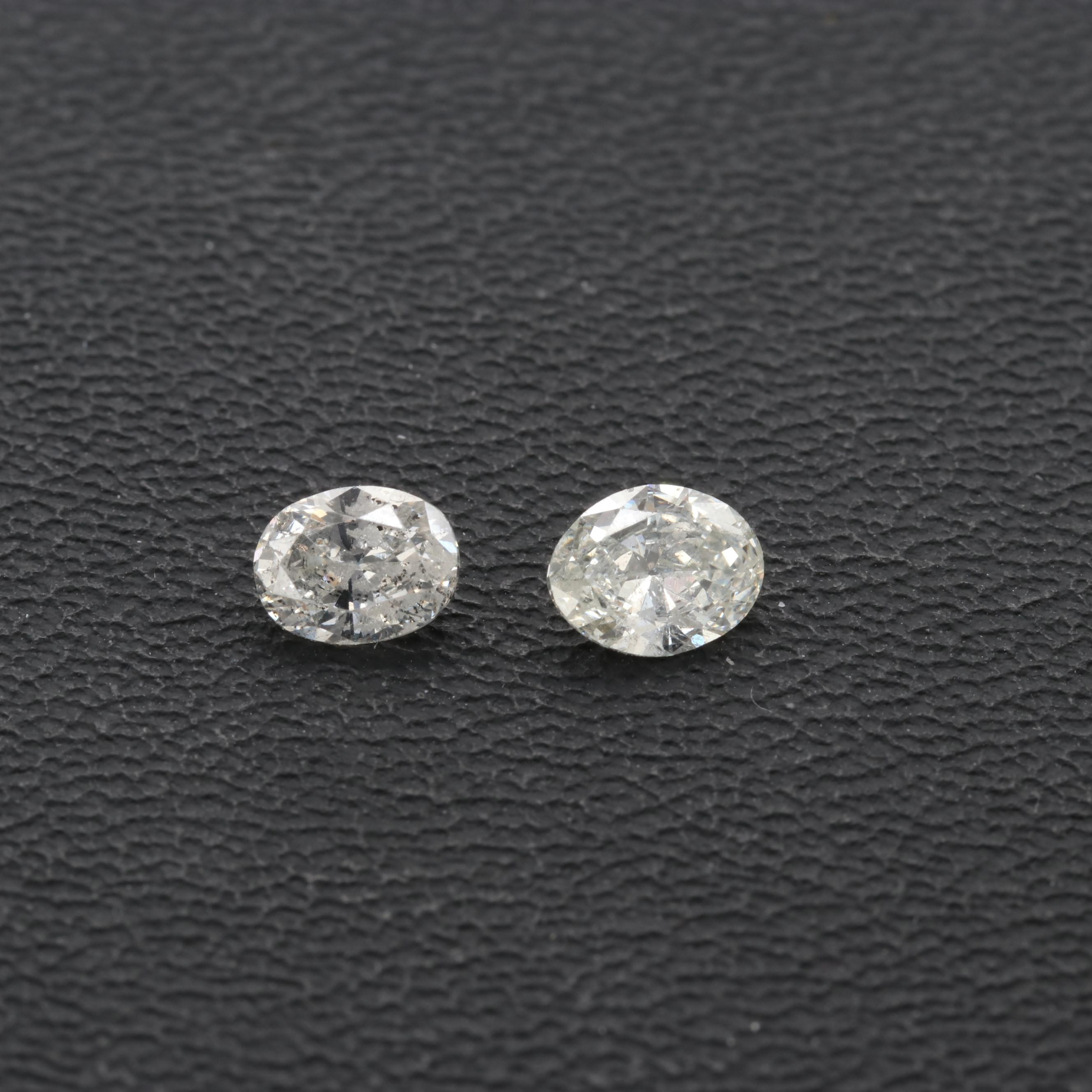 Loose Oval Faceted Diamonds