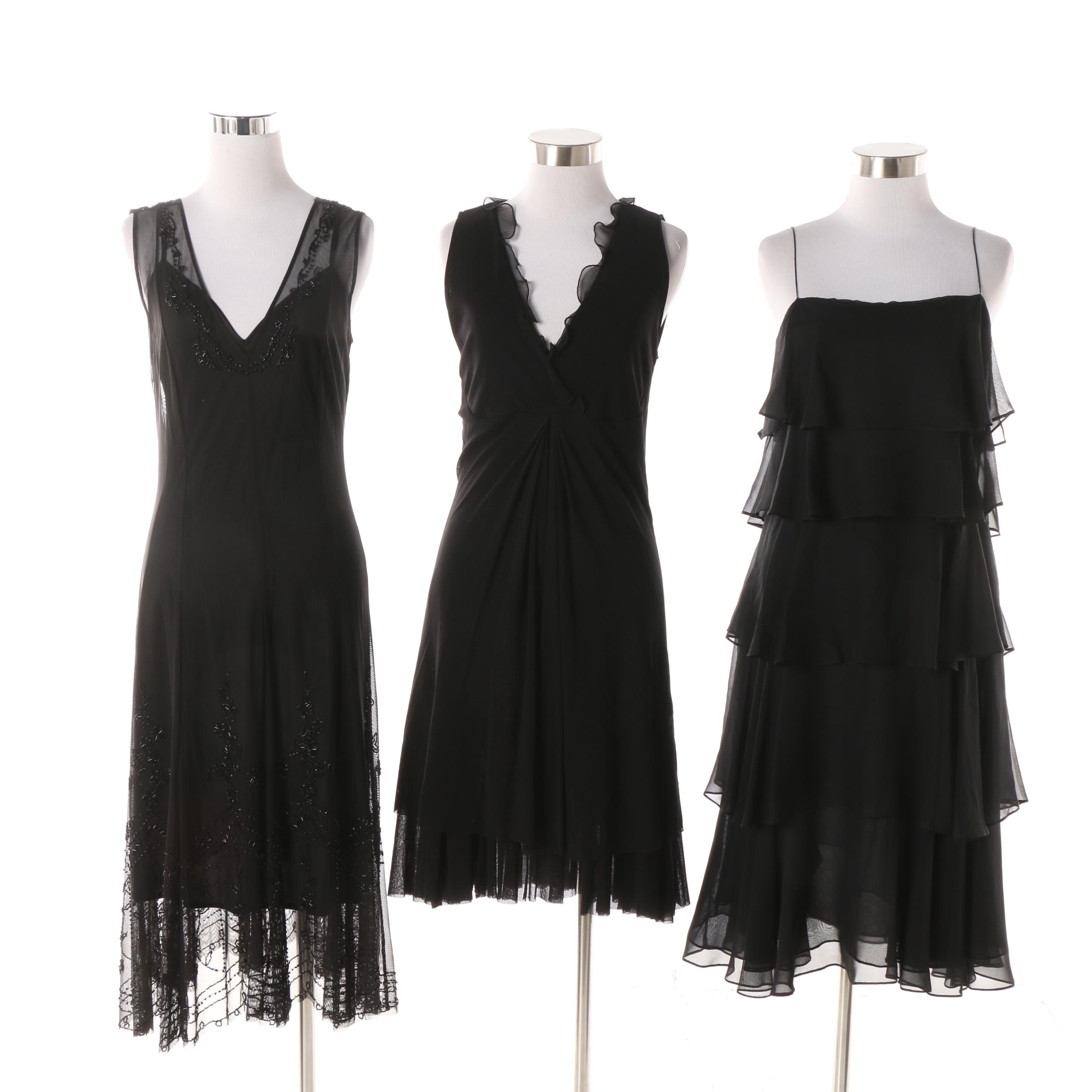 Women's Black Sleeveless Dresses including Saks Fifth Avenue