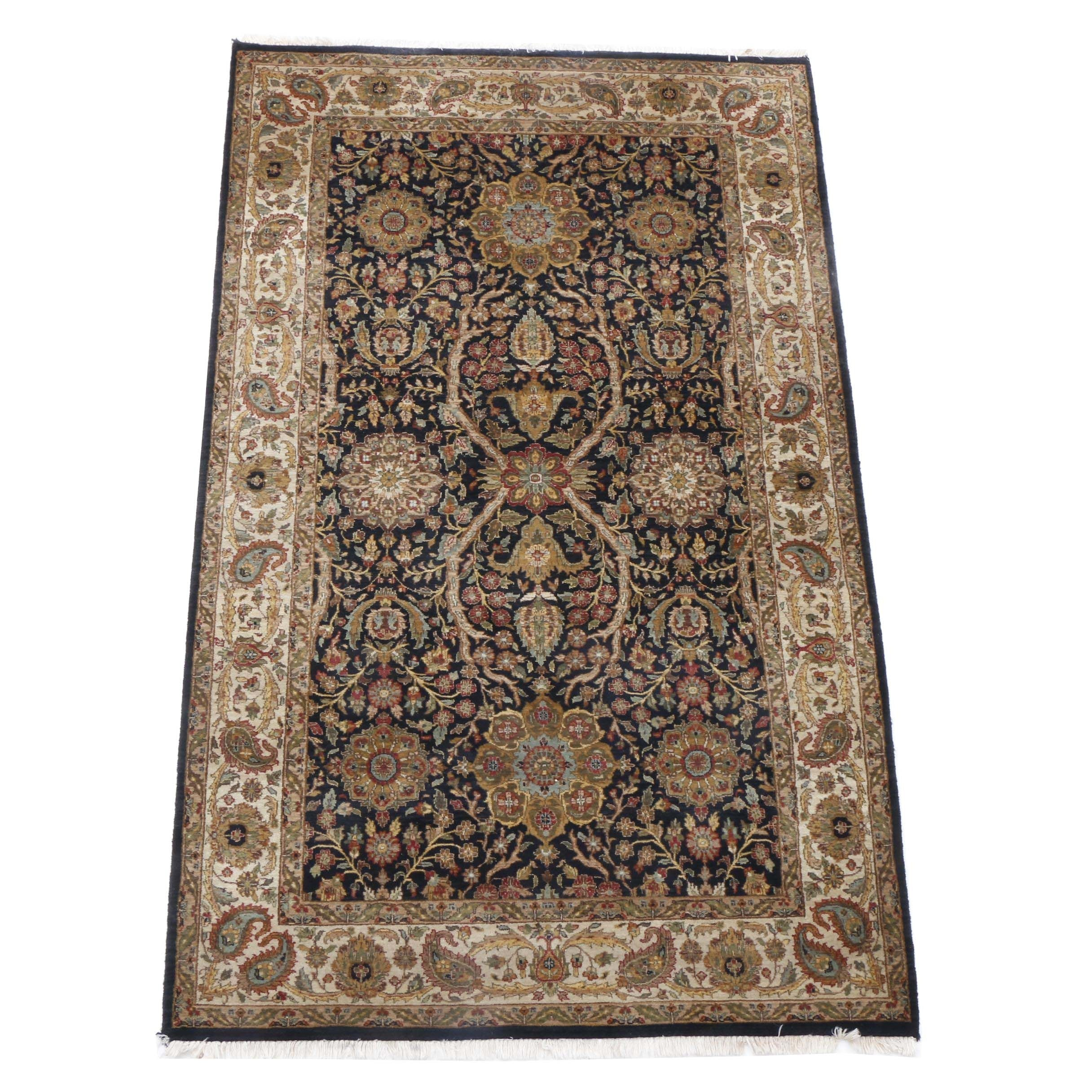Hand-Knotted Indo-Persian Agra Style Area Rug