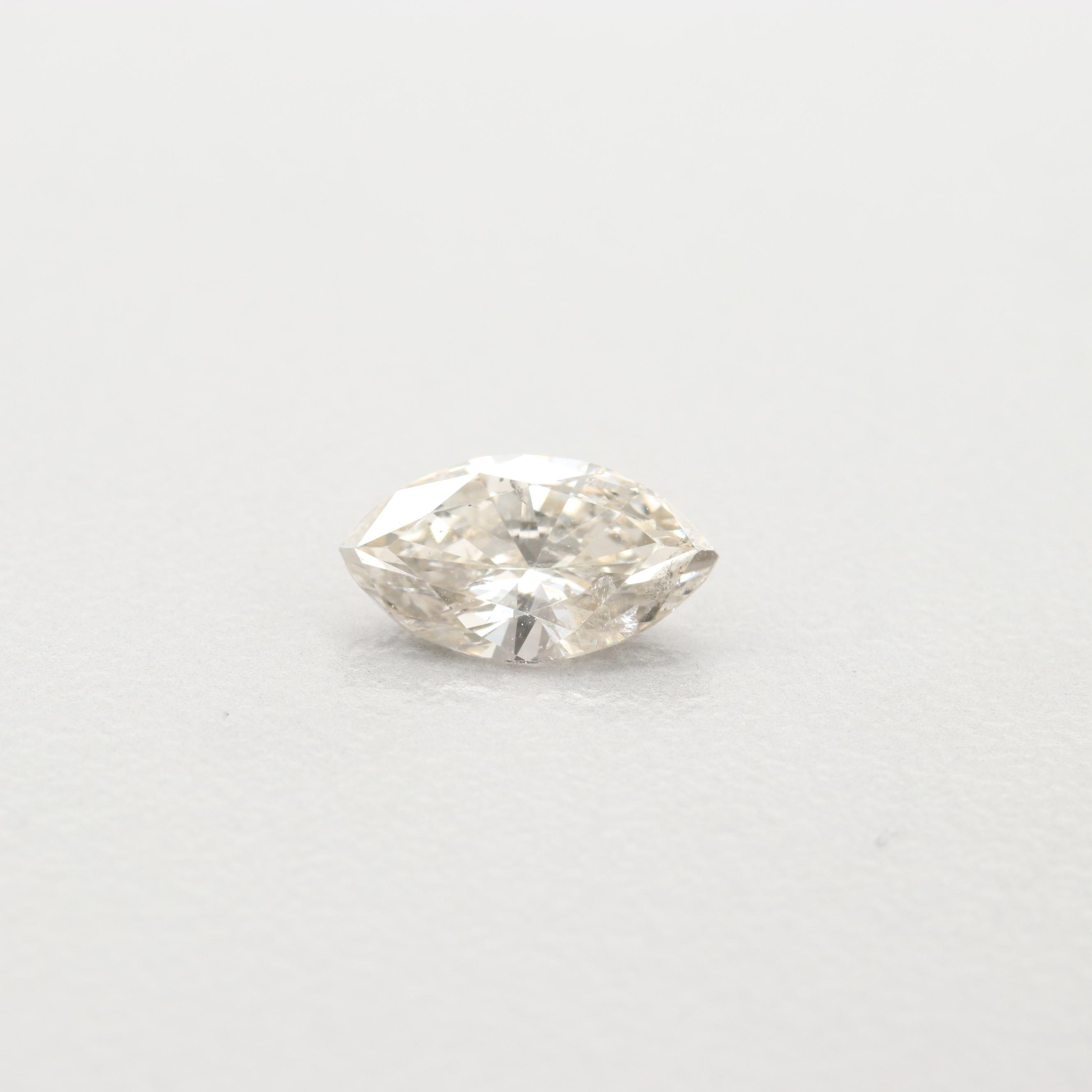 Loose Marquise Faceted Diamond