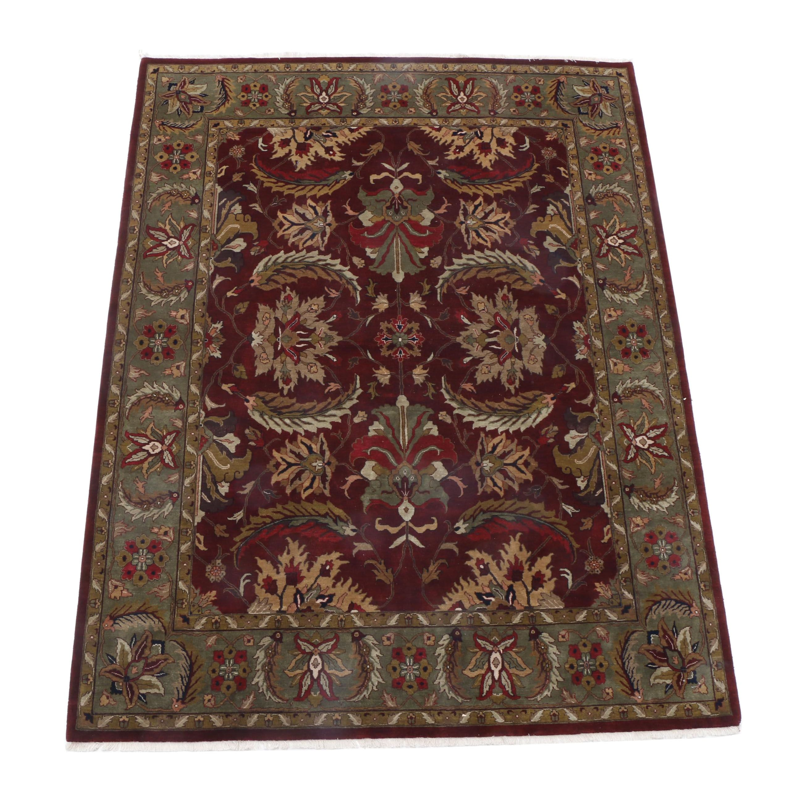Hand-Knotted Indo-Persian Room-Size Rug