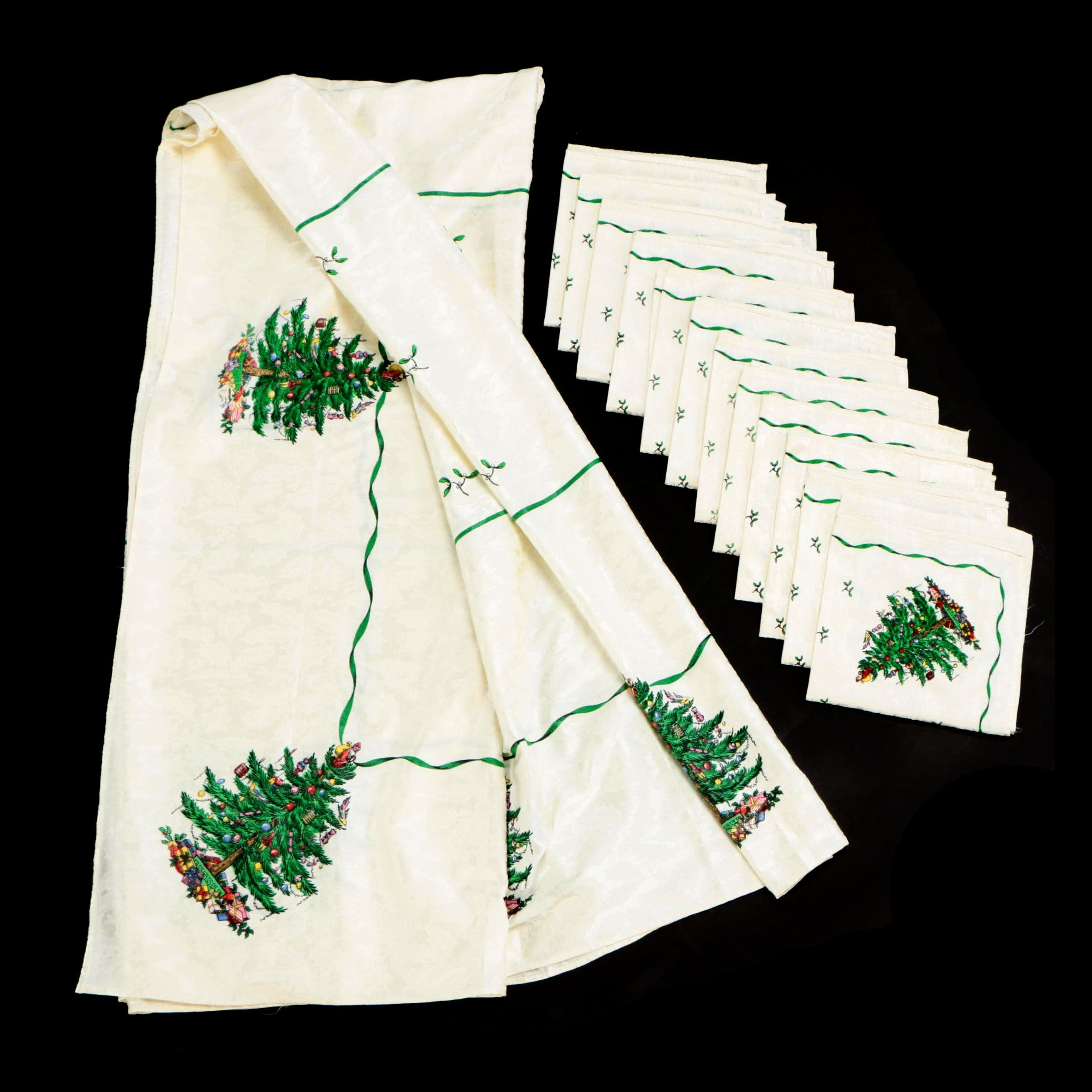 "Spode ""Christmas Tree"" Table Linens"