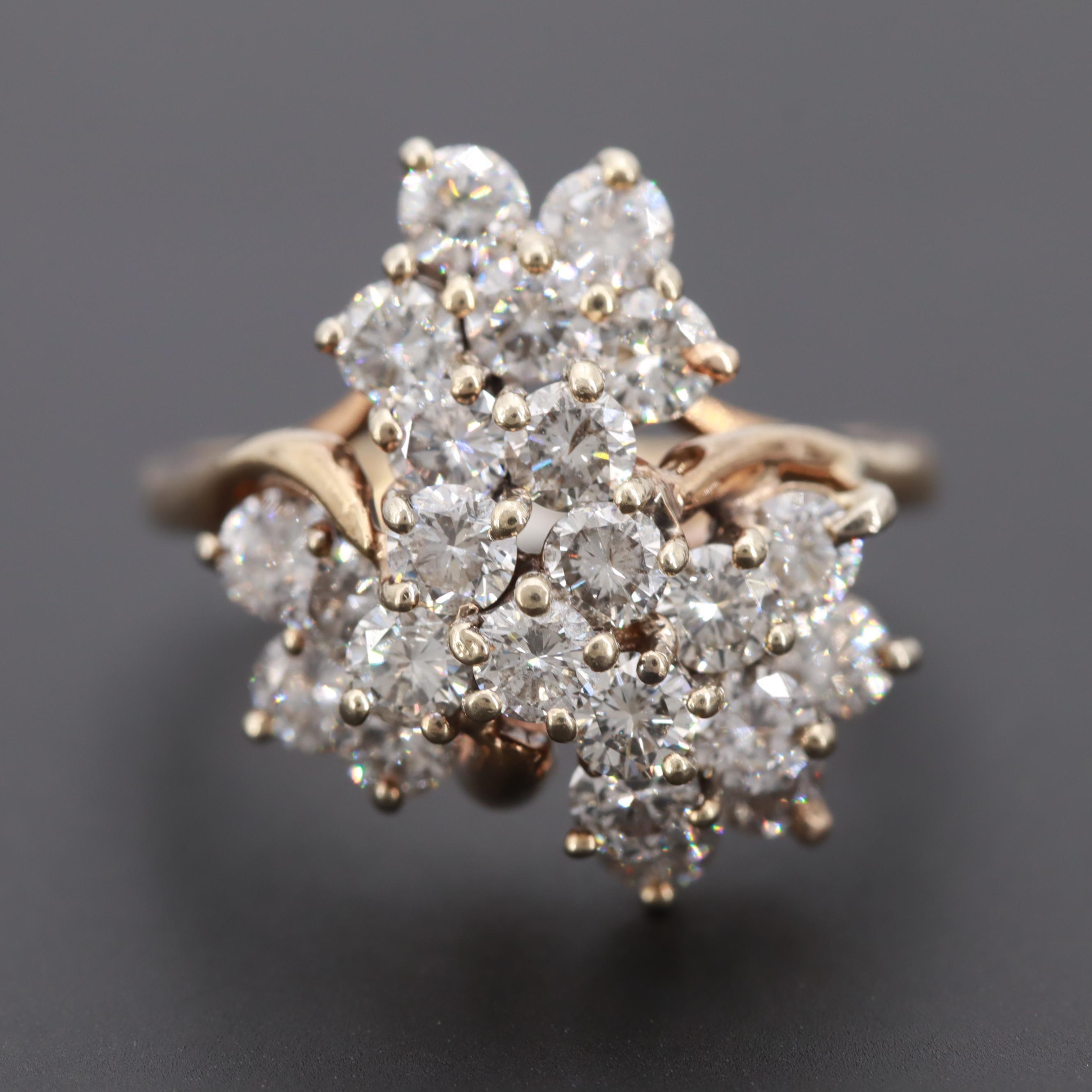 14K Yellow Gold 2.41 CTW Diamond Ring