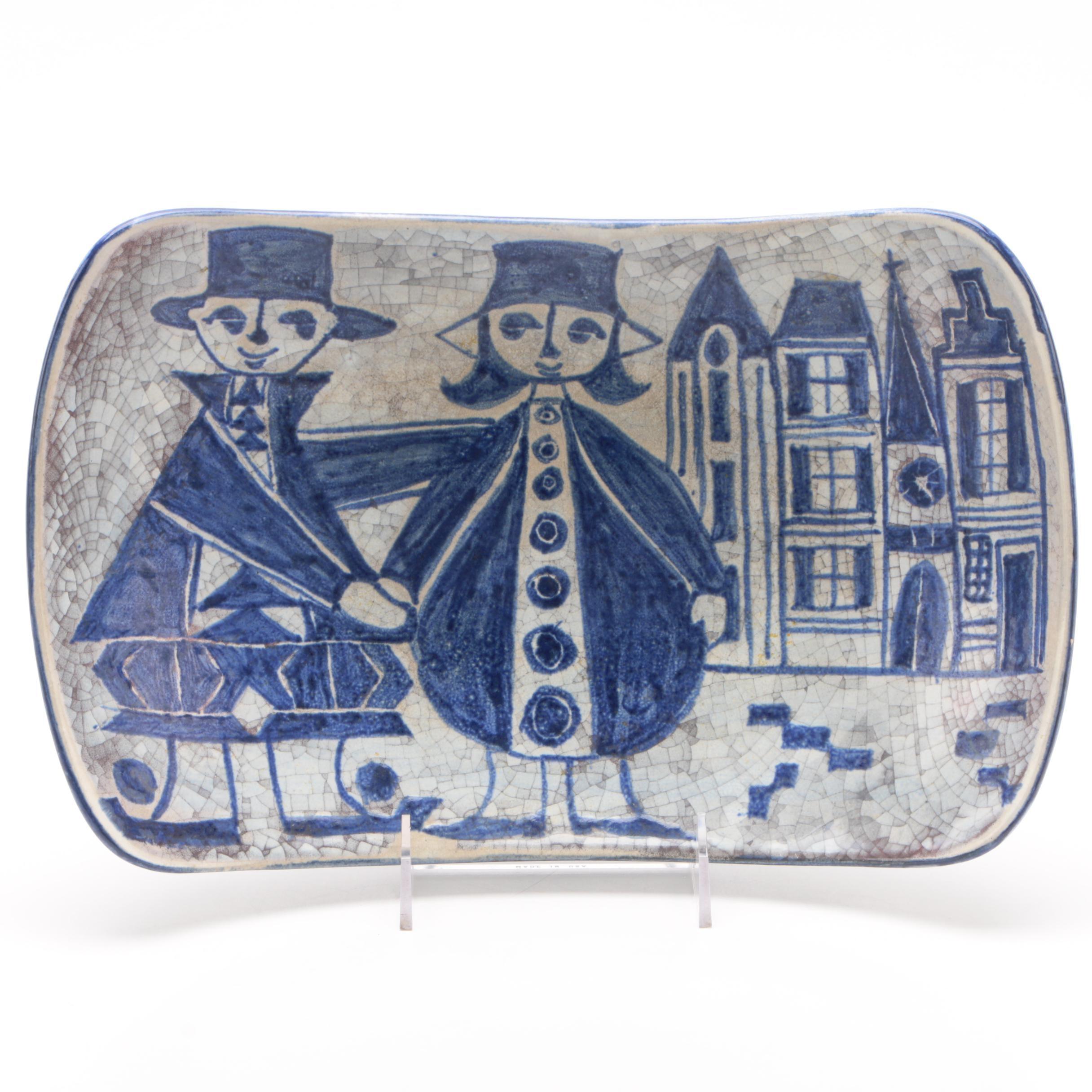 Marianne Starck for Michael Andersen Persia Glaze Platter, Mid-Century