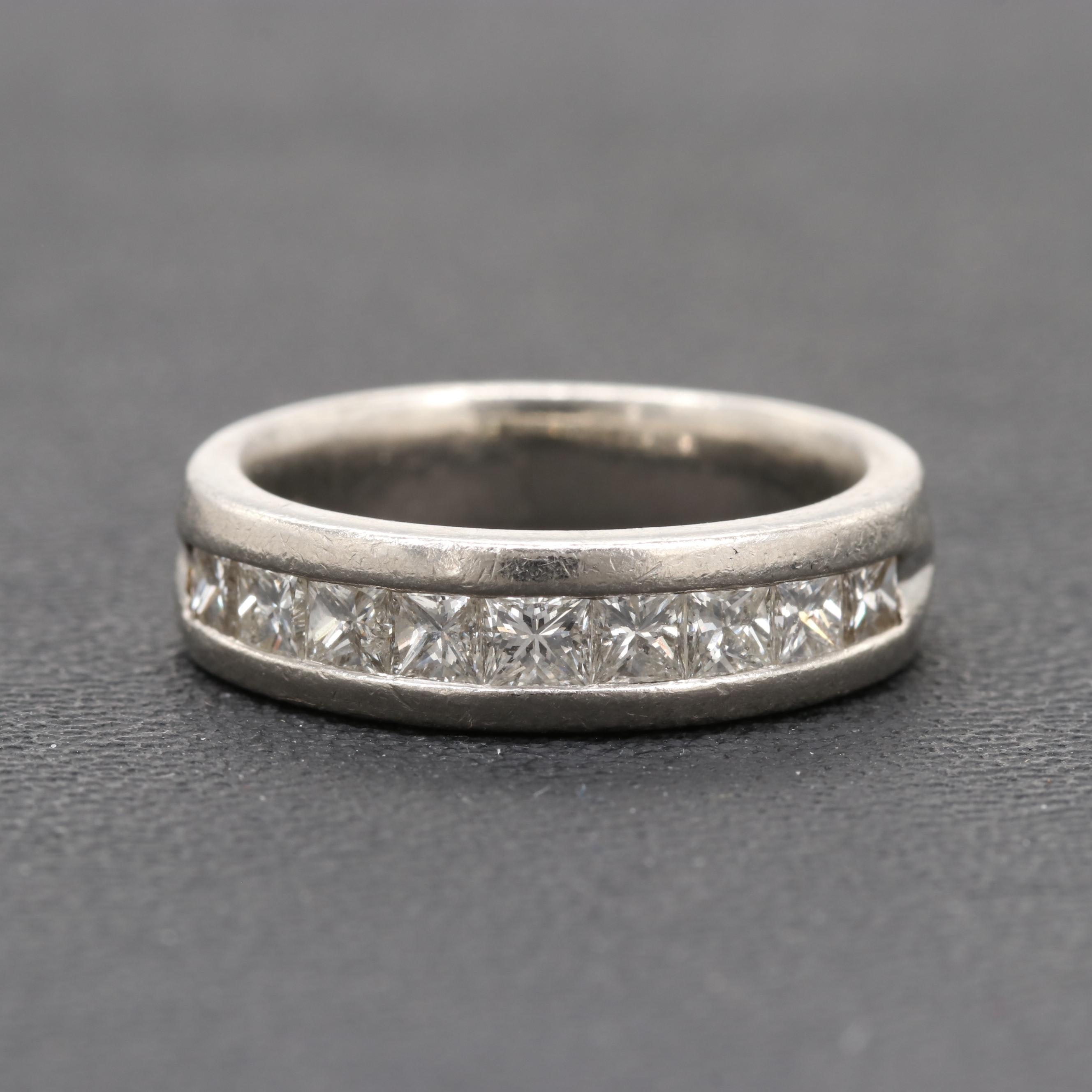 Platinum 1.08 CTW Diamond Ring