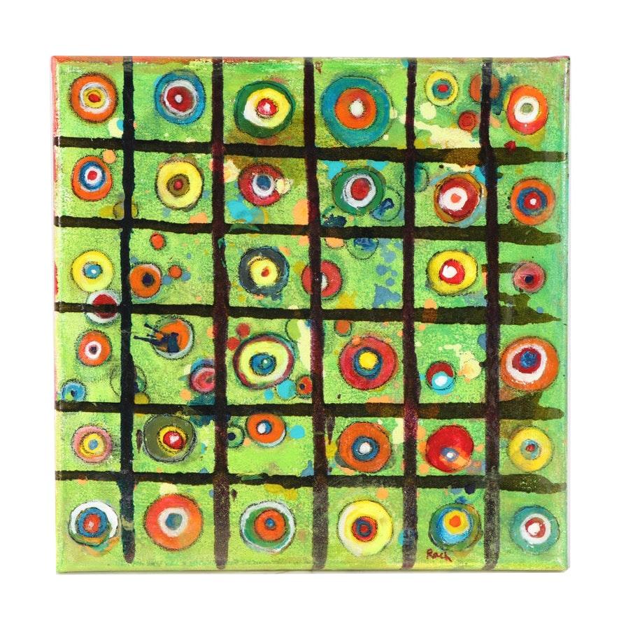 Rach Contemporary Geometric Acrylic Painting