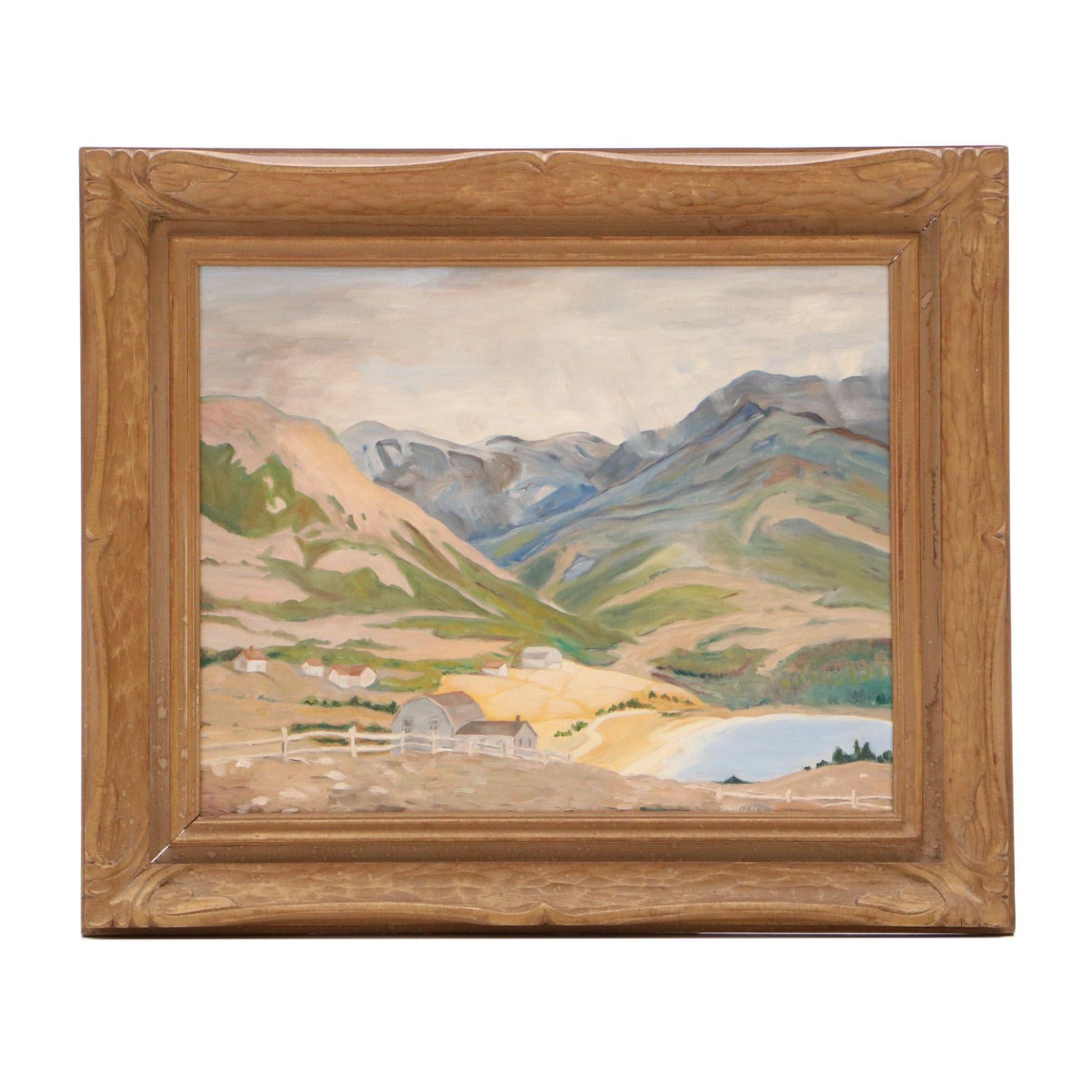 Helen Hair Oil Landscape on Canvas Board