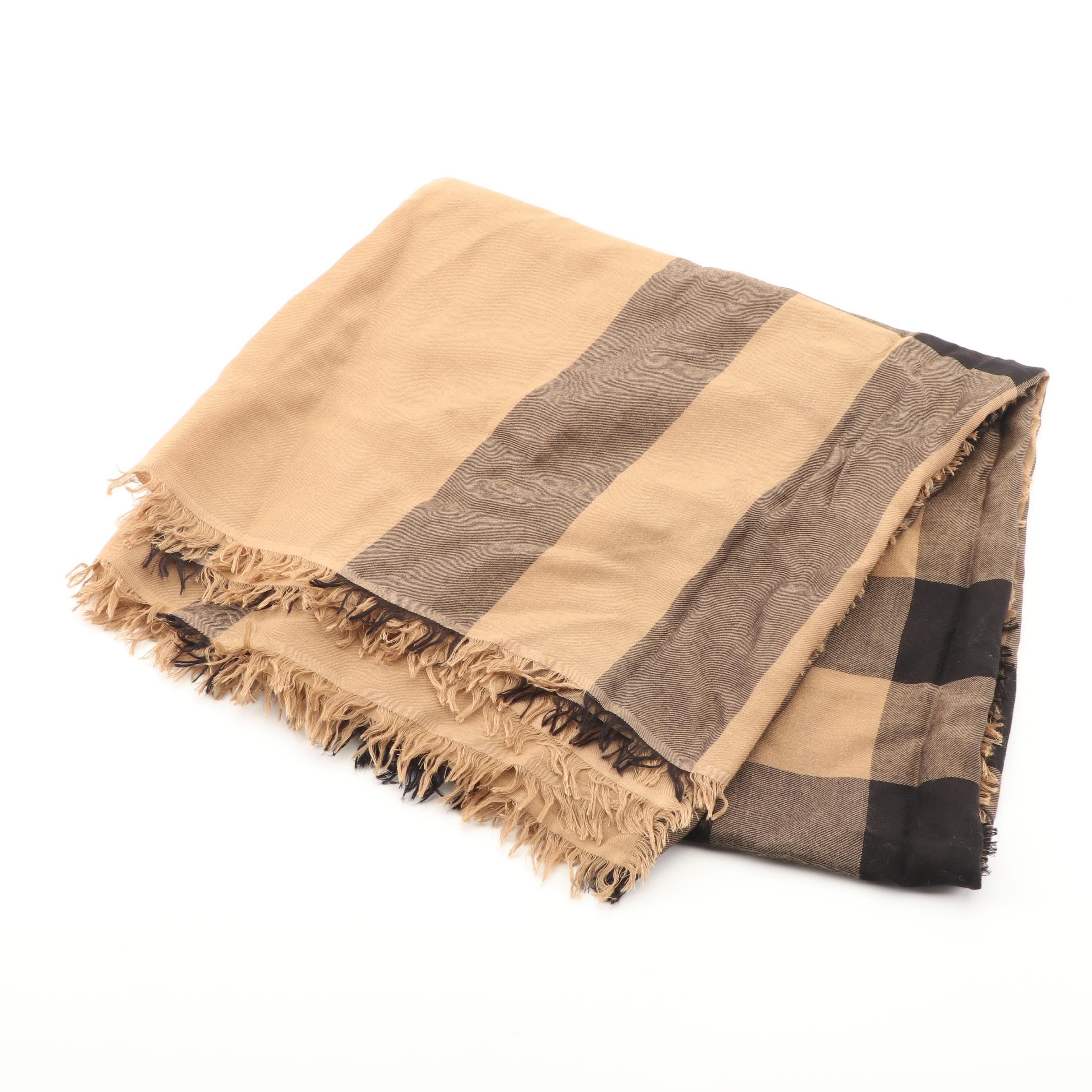 "Burberry ""Relaxed Mega Check"" Square Scarf"
