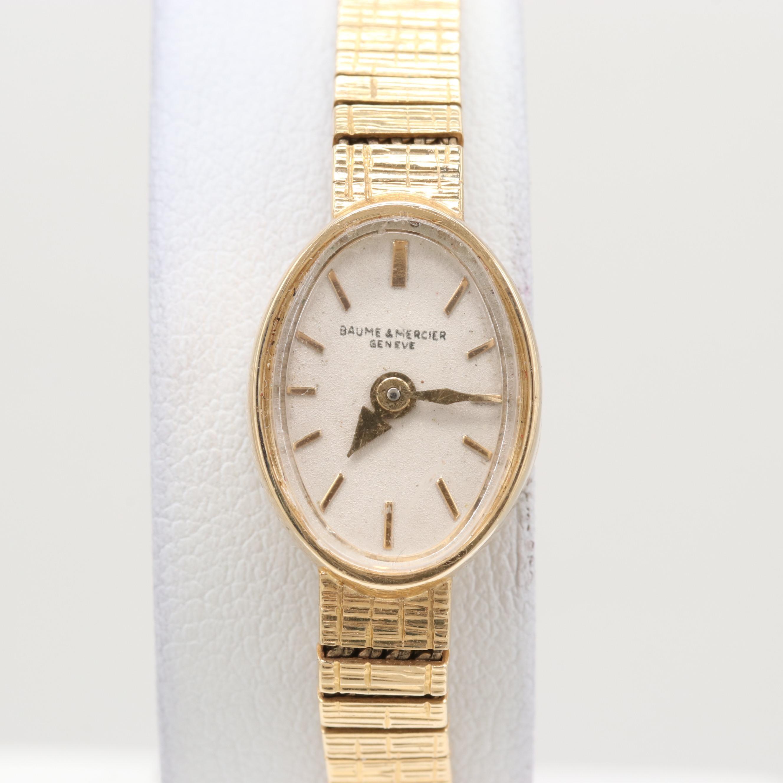 Vintage Baume & Mercier 14K Yellow Gold Wristwatch