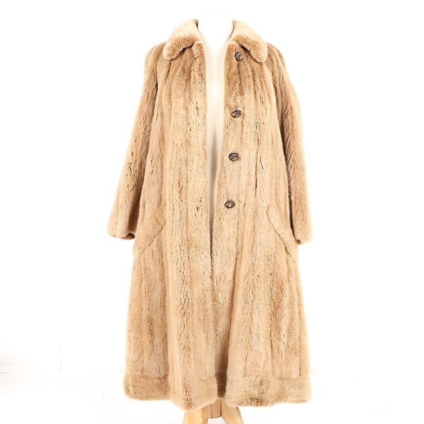 Women's Vintage Neiman Marcus Blonde Beaver Fur Coat