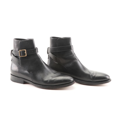 0e23479ac1fa Men s Burberry Vambery Black Leather Ankle Boots