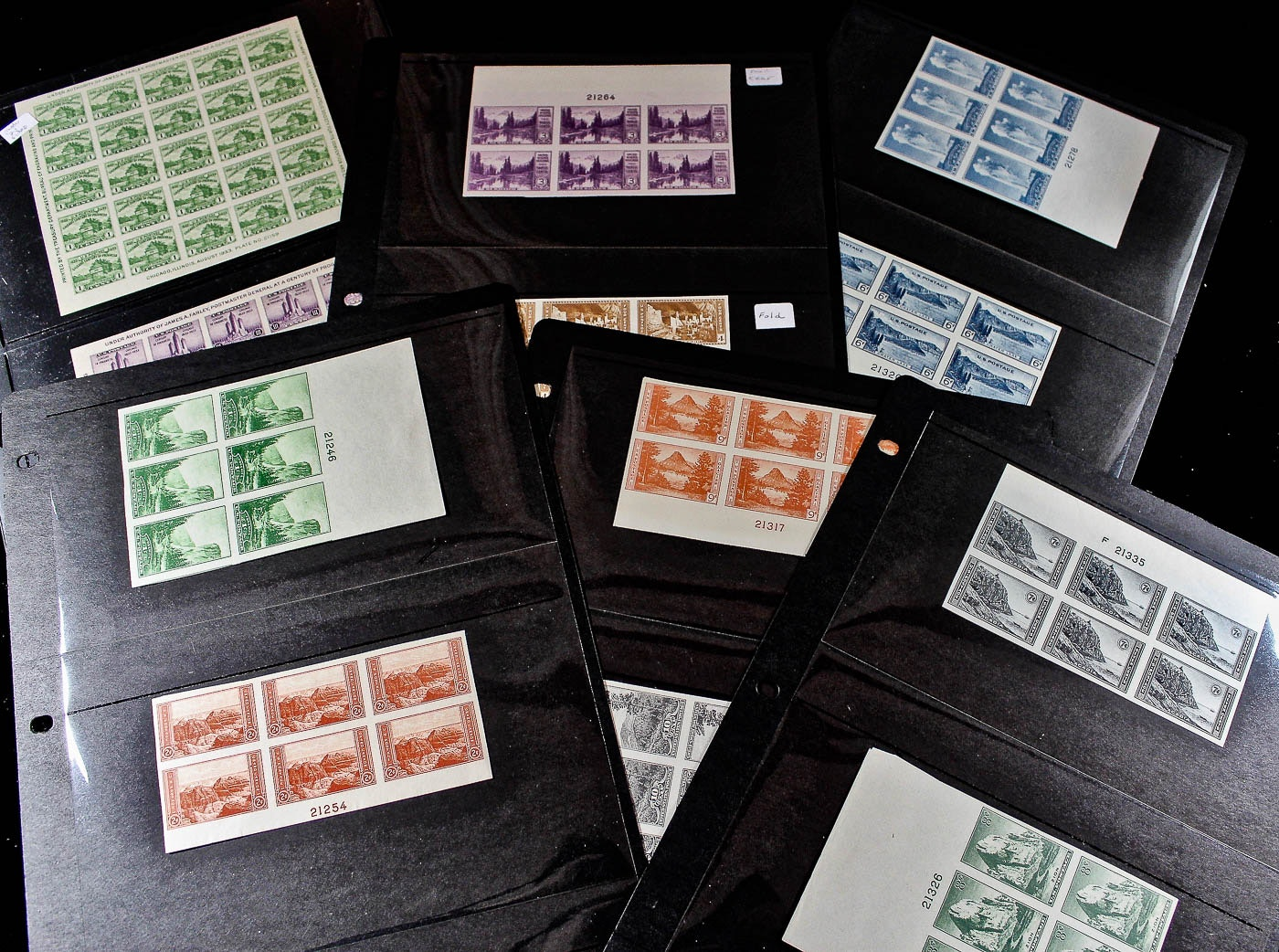 Collection of U.S. Farley Issue Stamps