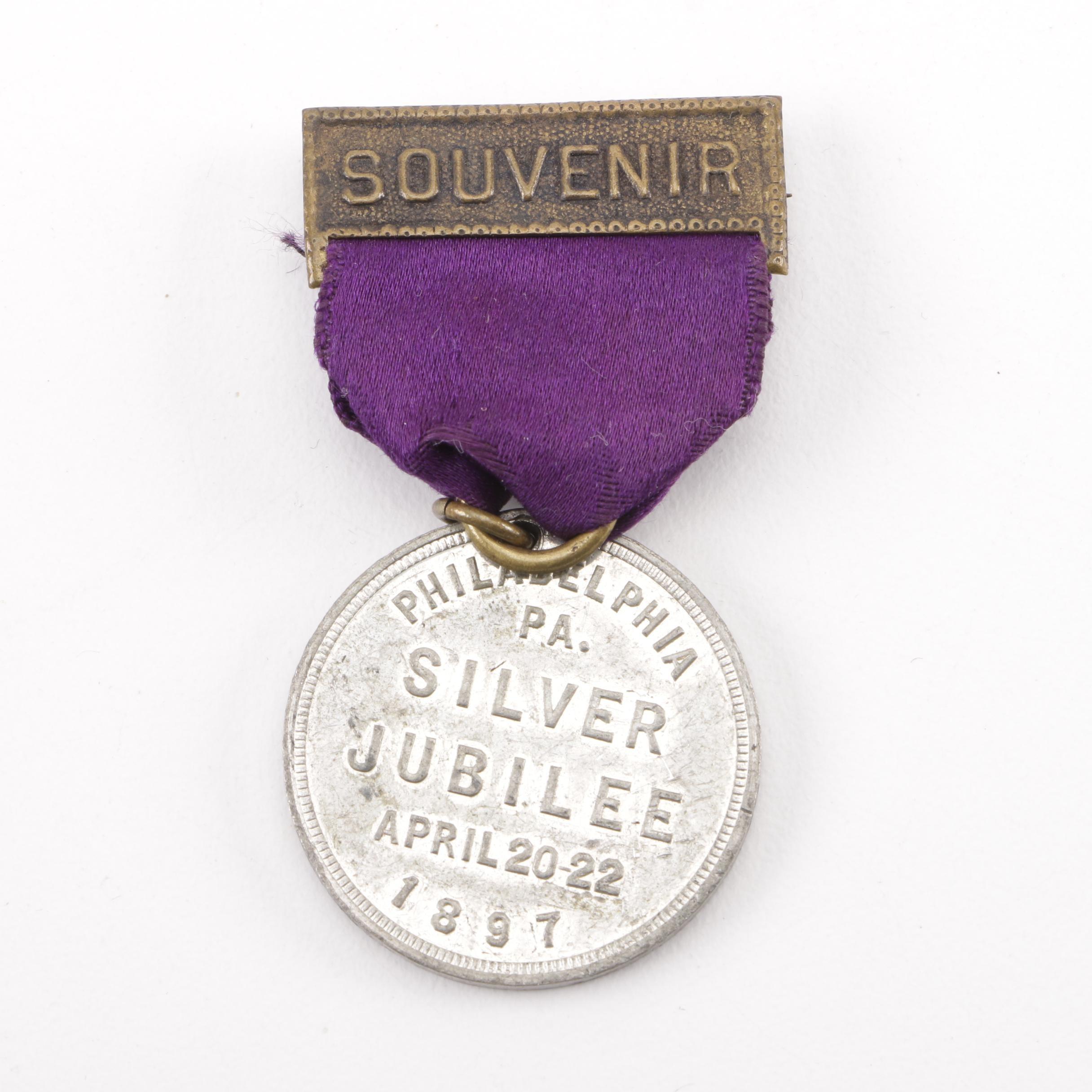 "Philadelphia ""Silver Jubilee"" 1897 Souvenir Medallion"