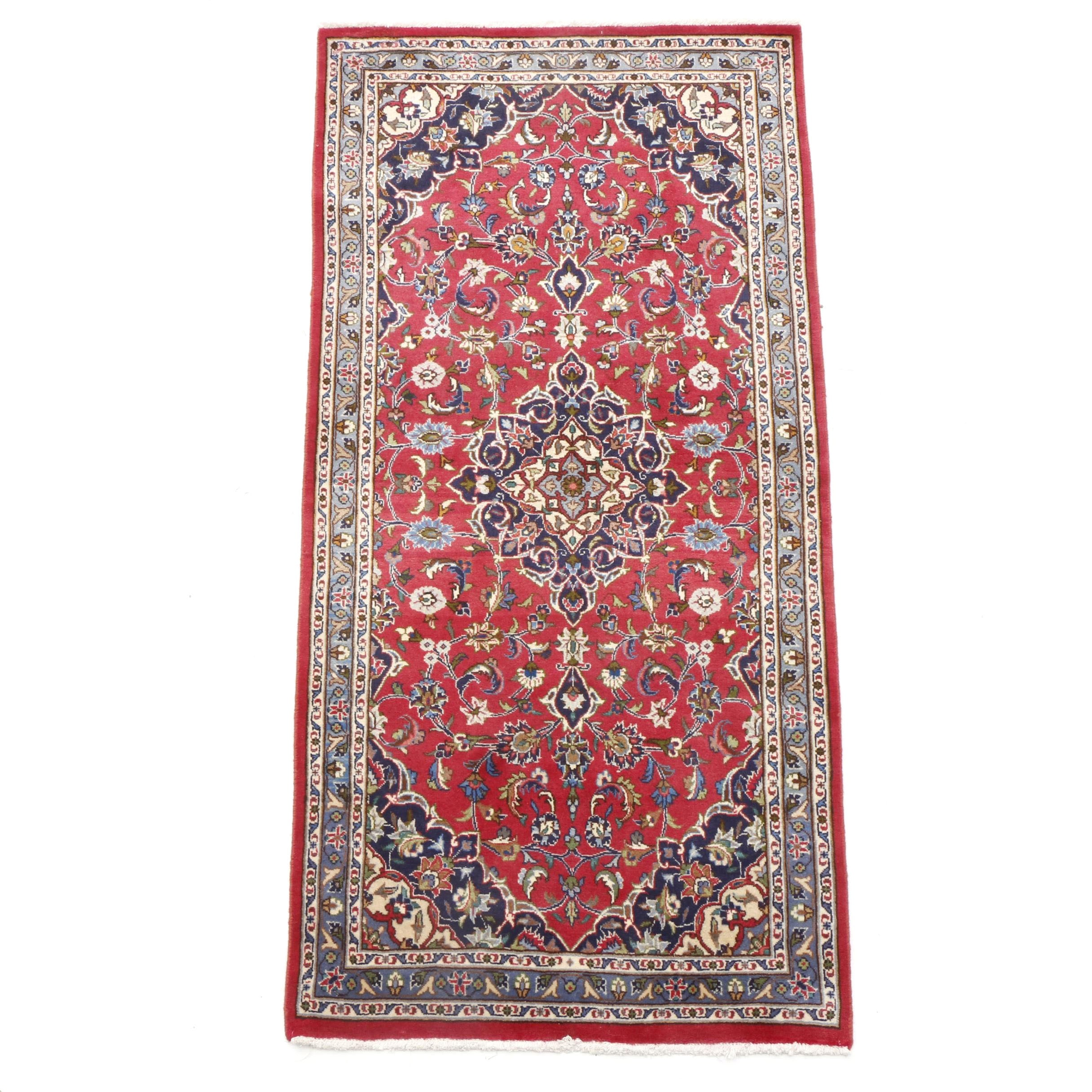 Hand-Knotted Persian Kashan Long Rug