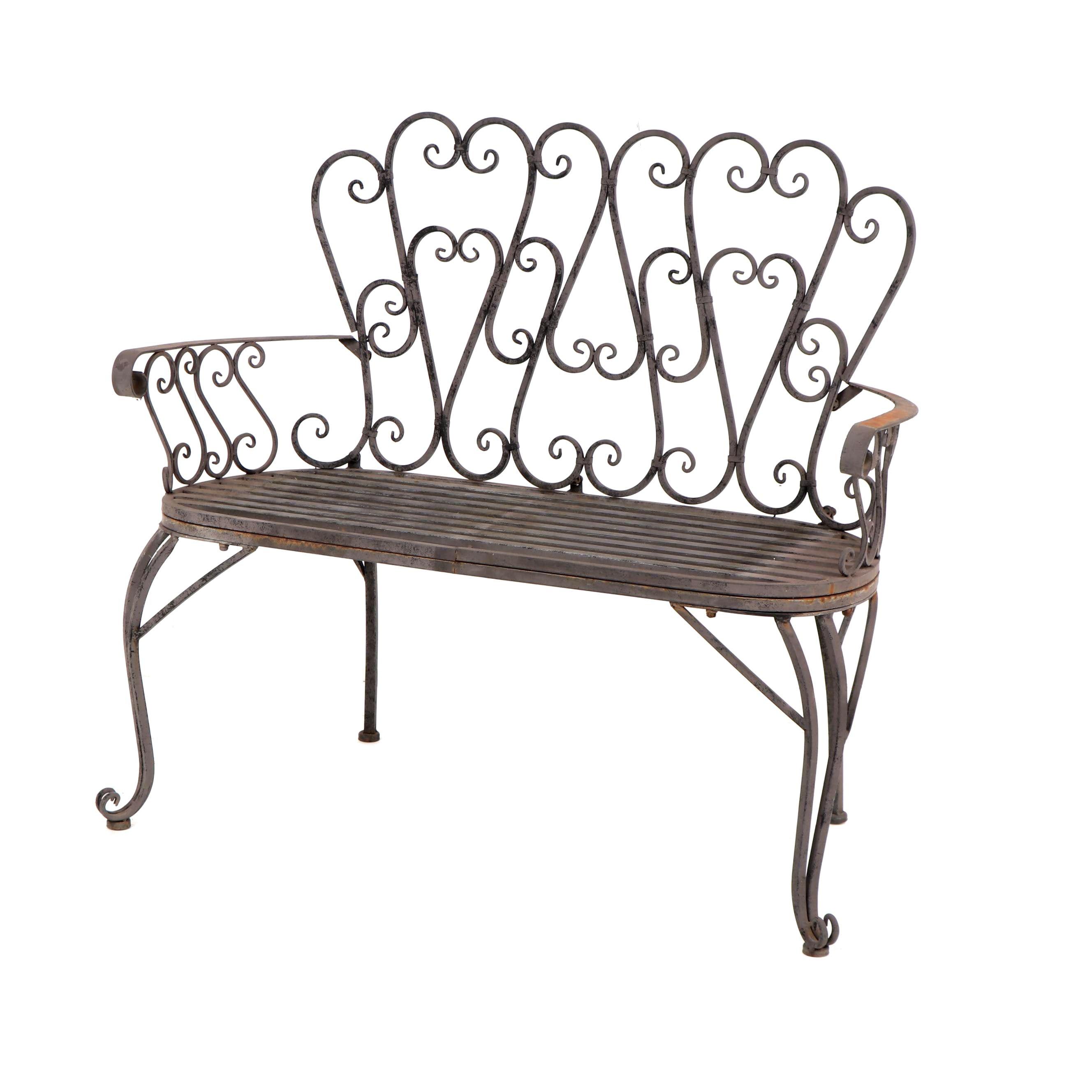 Victorian Style Metal Garden Bench