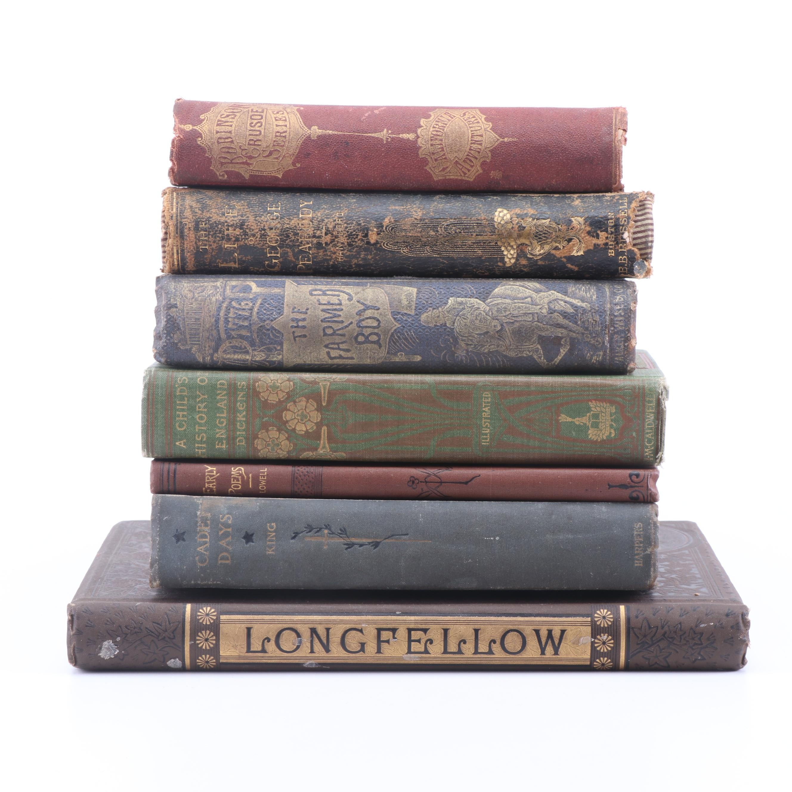 Mid to Late 19th Century Biographies and Books of Poetry including Grizzly Adams