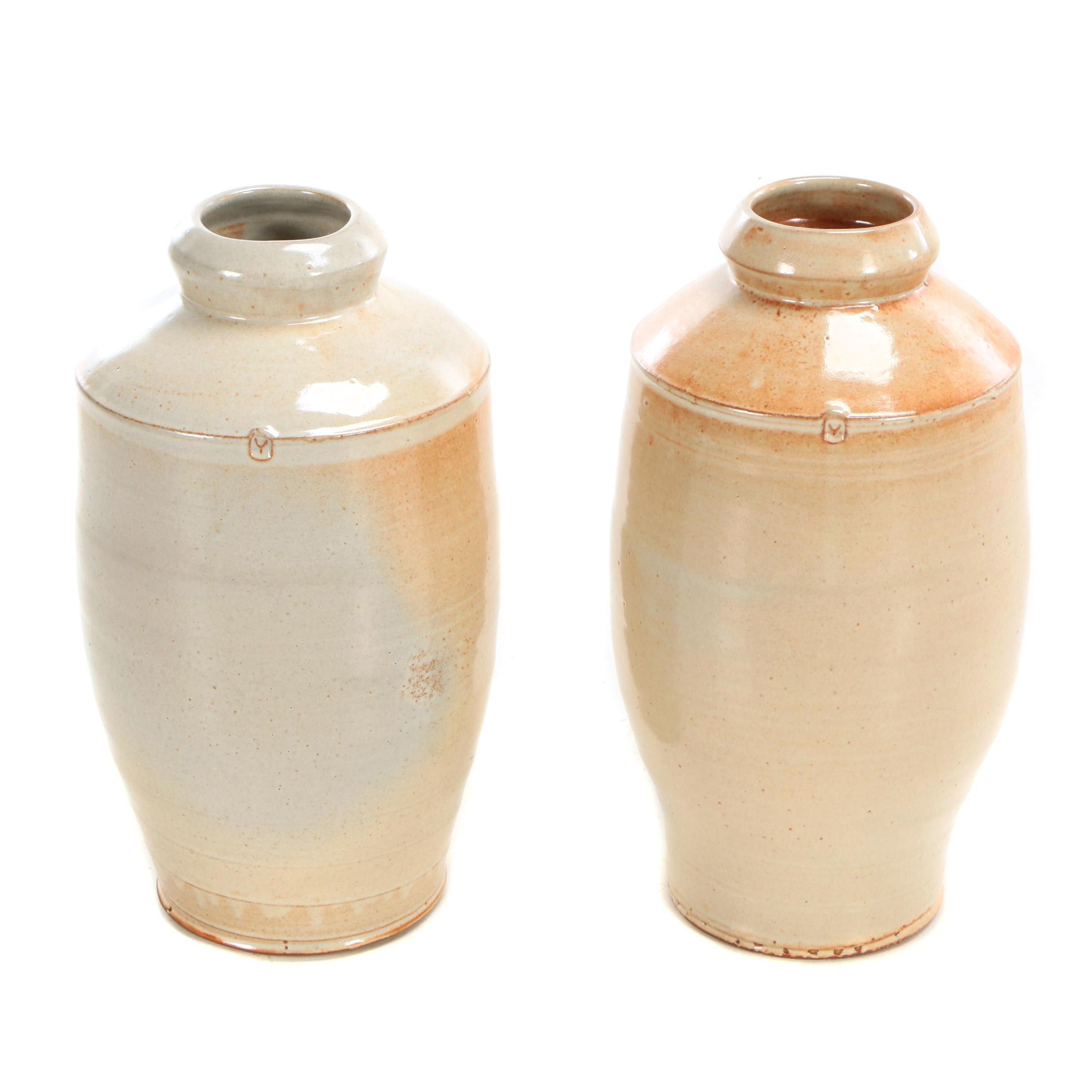 Horseshoe Mountain Studio Salt Glazed Stoneware Vases by Joe Bennion