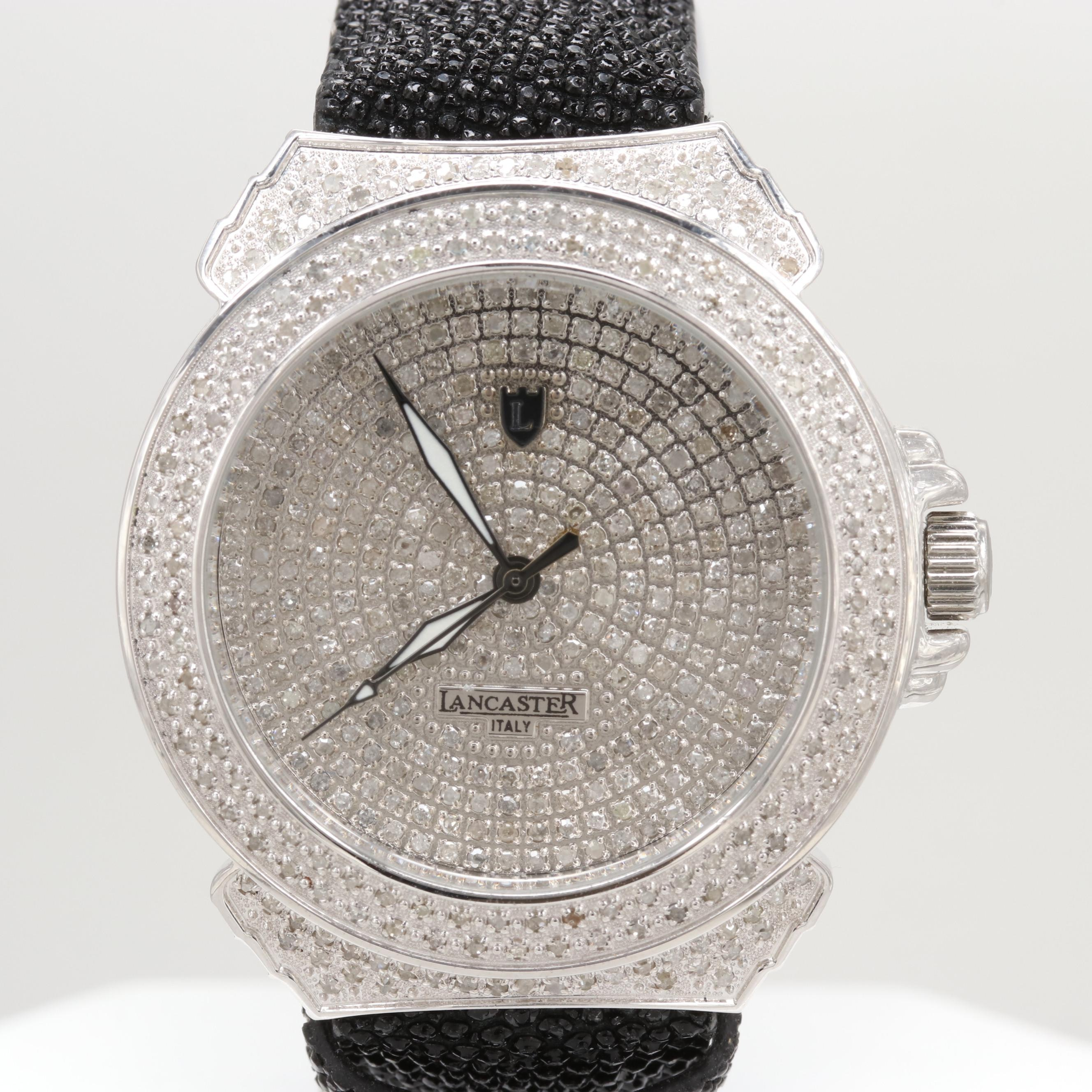 Lancaster Pillola Deco 2.99 CTW Diamond Quartz Wristwatch