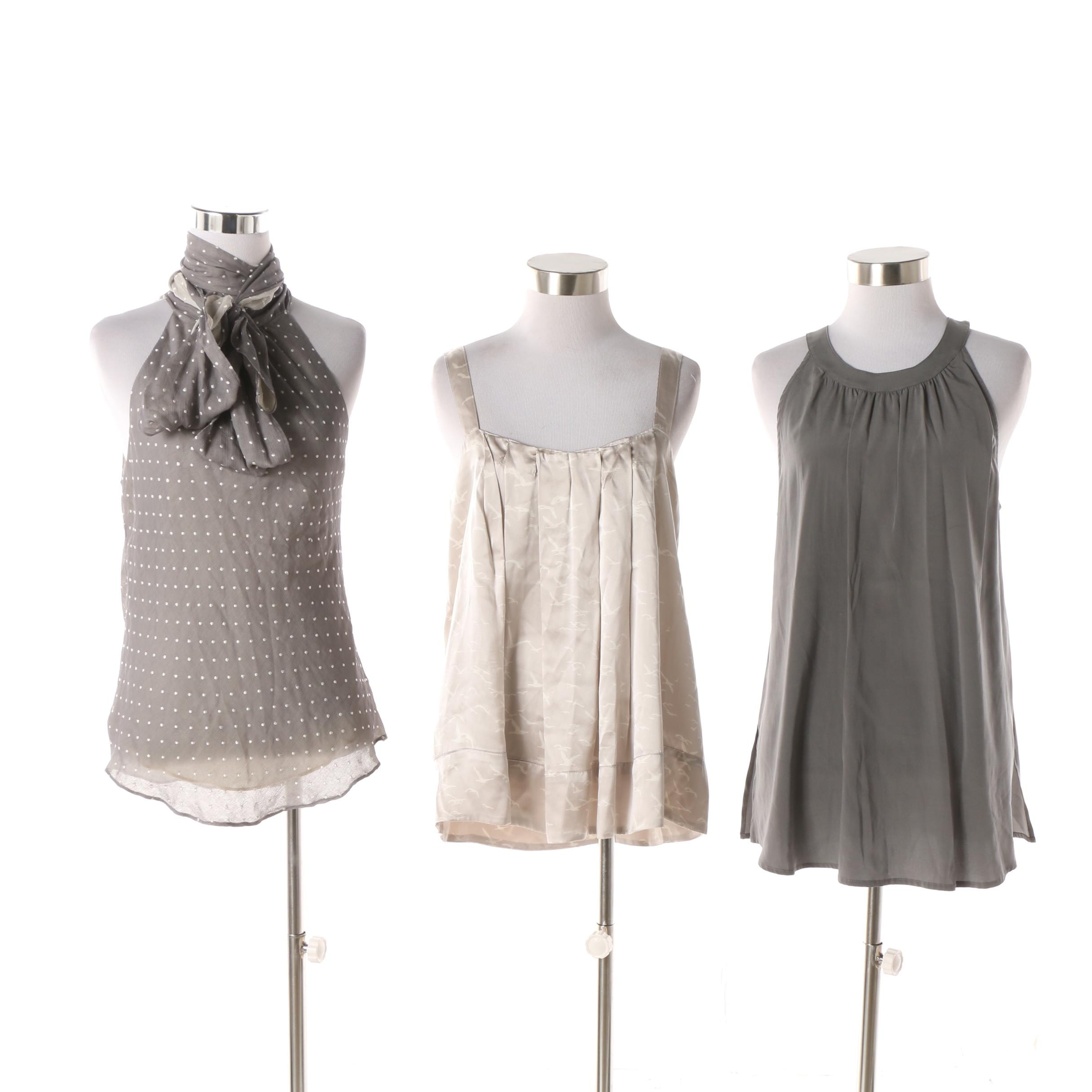 Sleeveless Silk Tops including Diane von Furstenberg and Ulla Johnson