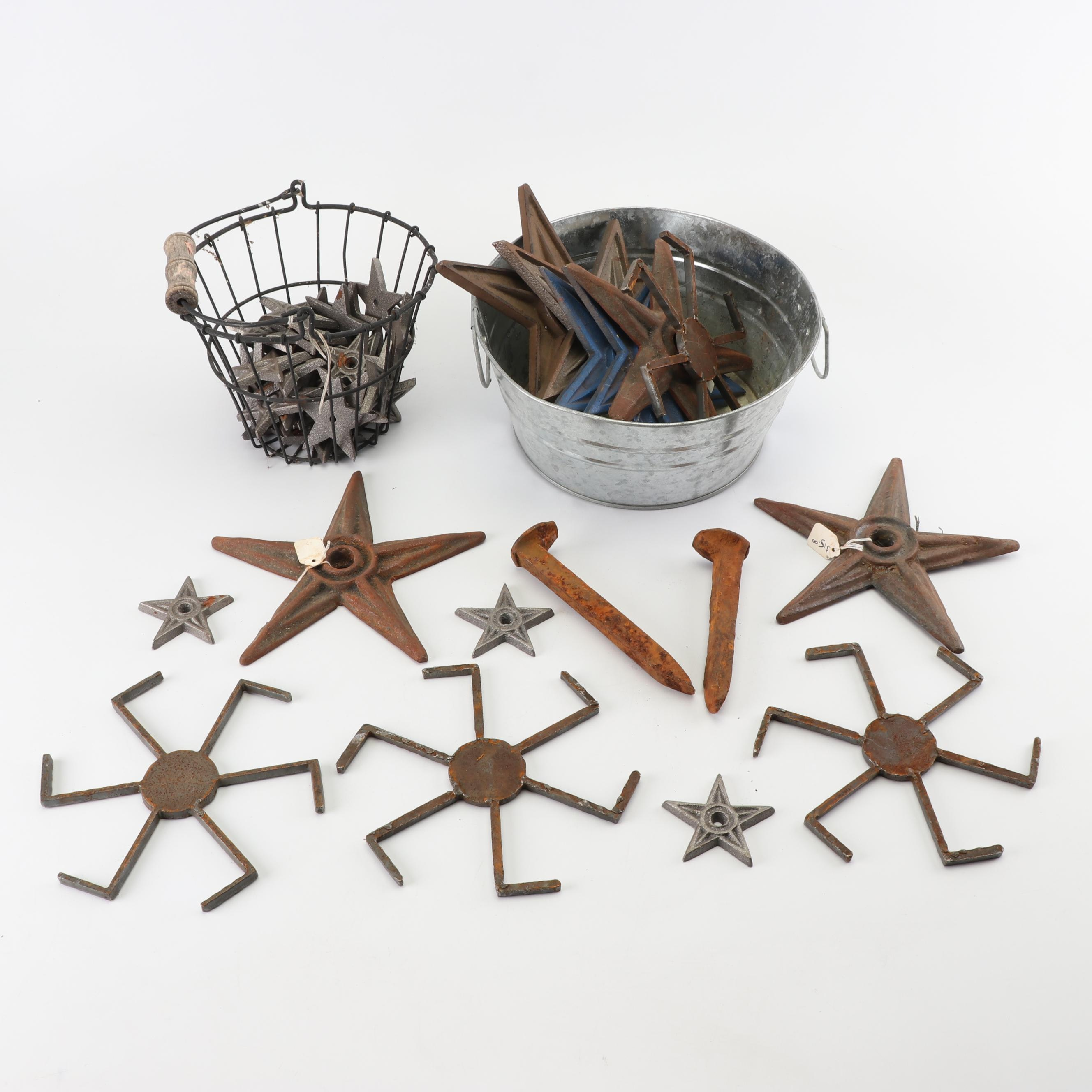 Decorative Cast Iron Stars and Spikes