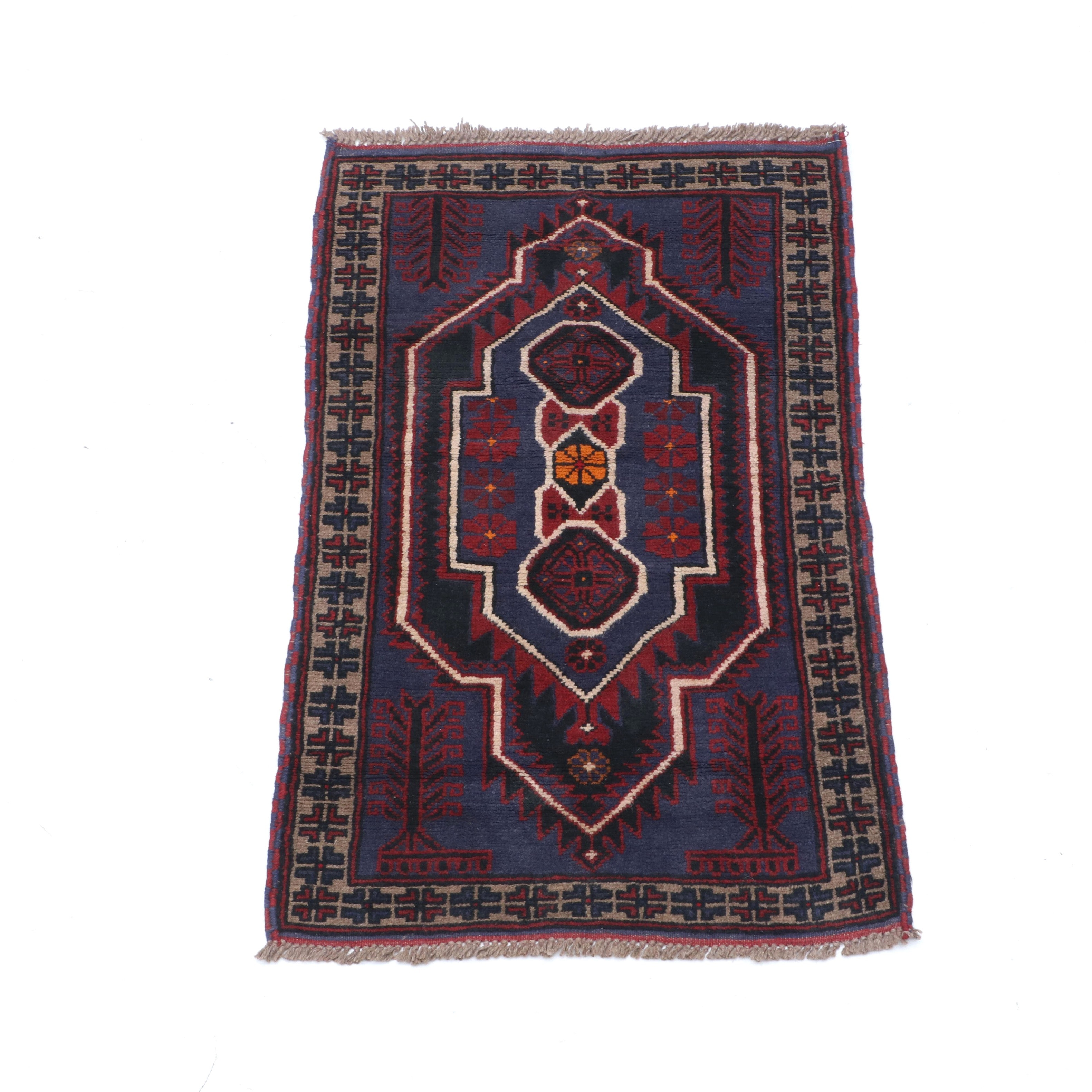 Hand-Knotted Turkish Taspinar Wool Accent Rug