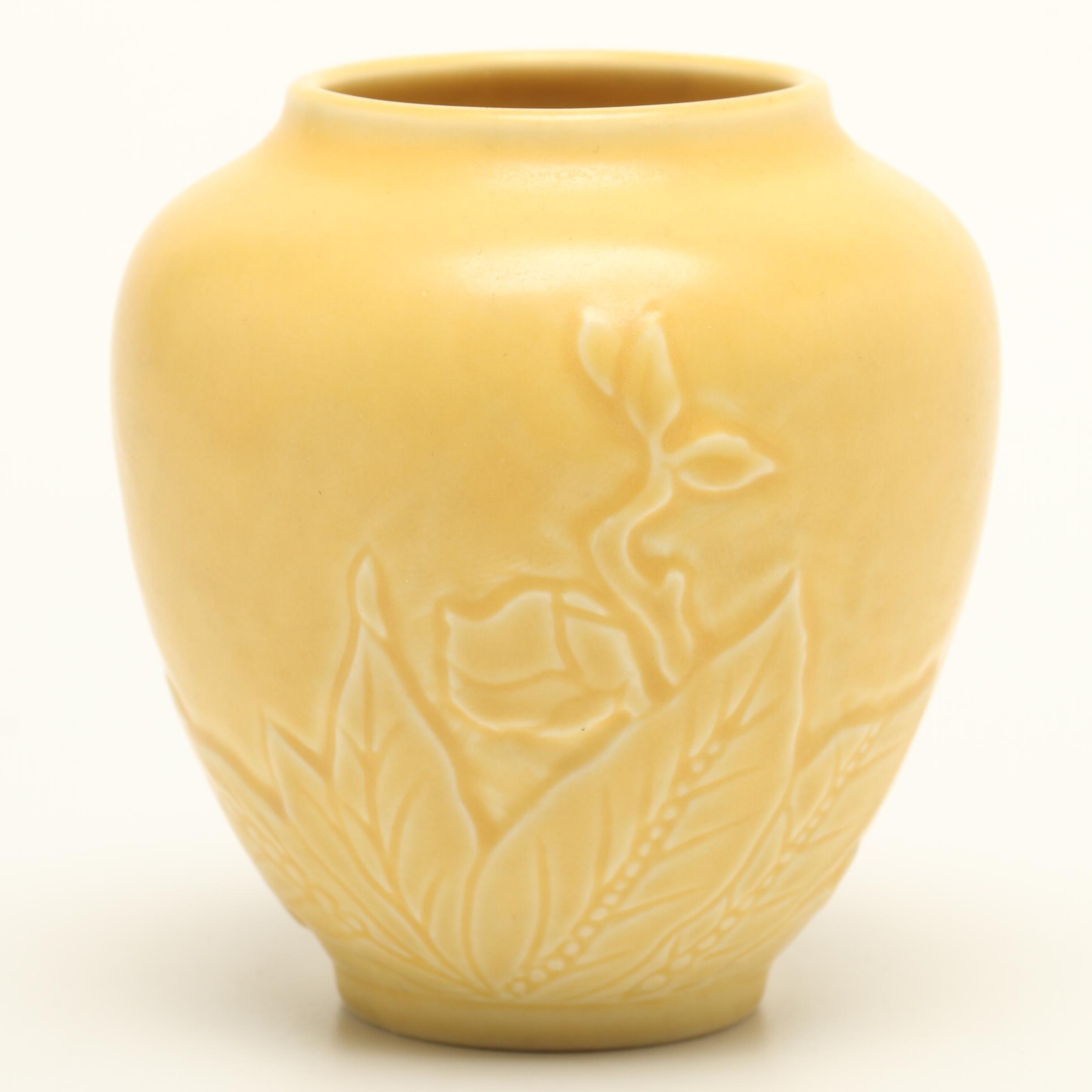 1935 Rookwood Yellow Matte Pottery Vase