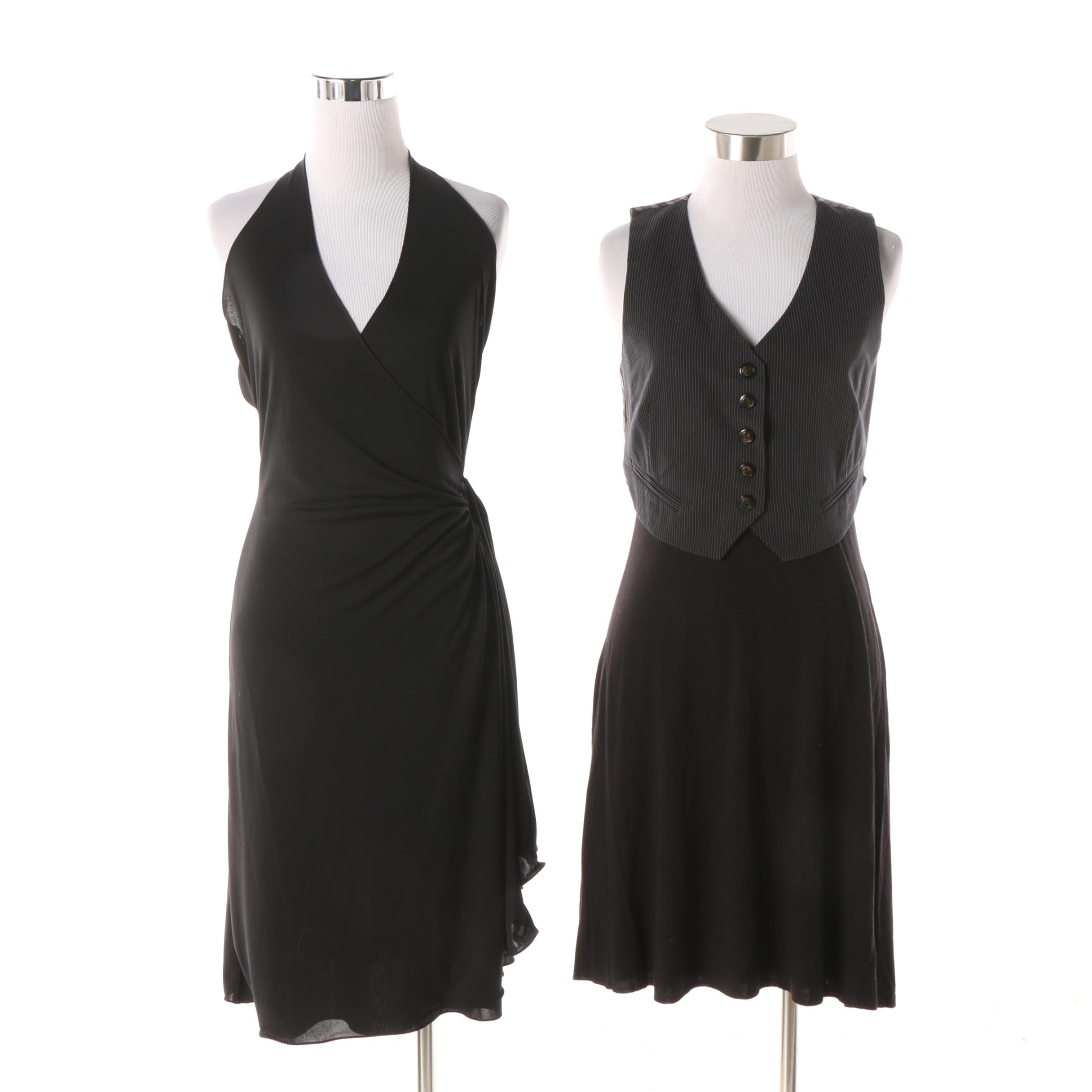 Emporio Armani Black Halter Dress and Bailey 44 Sleeveless Casual Dress