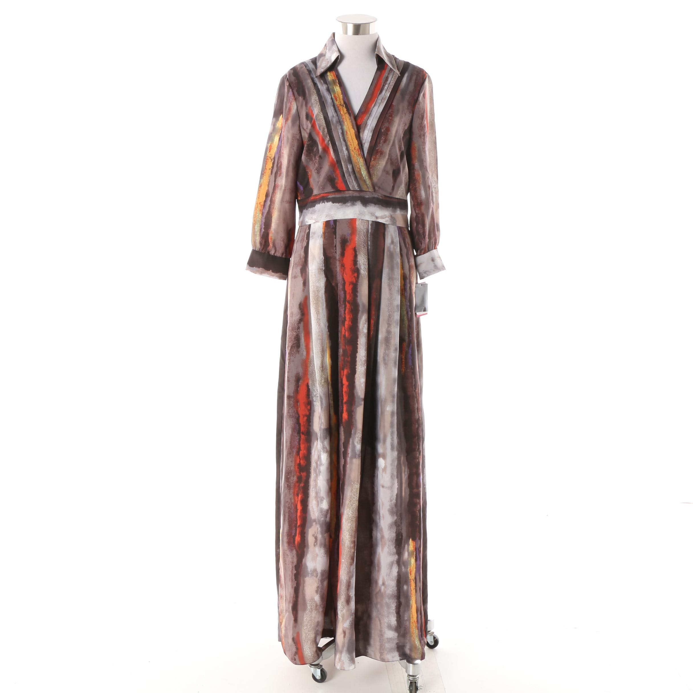 Vince Camuto Full-Length Printed Dress