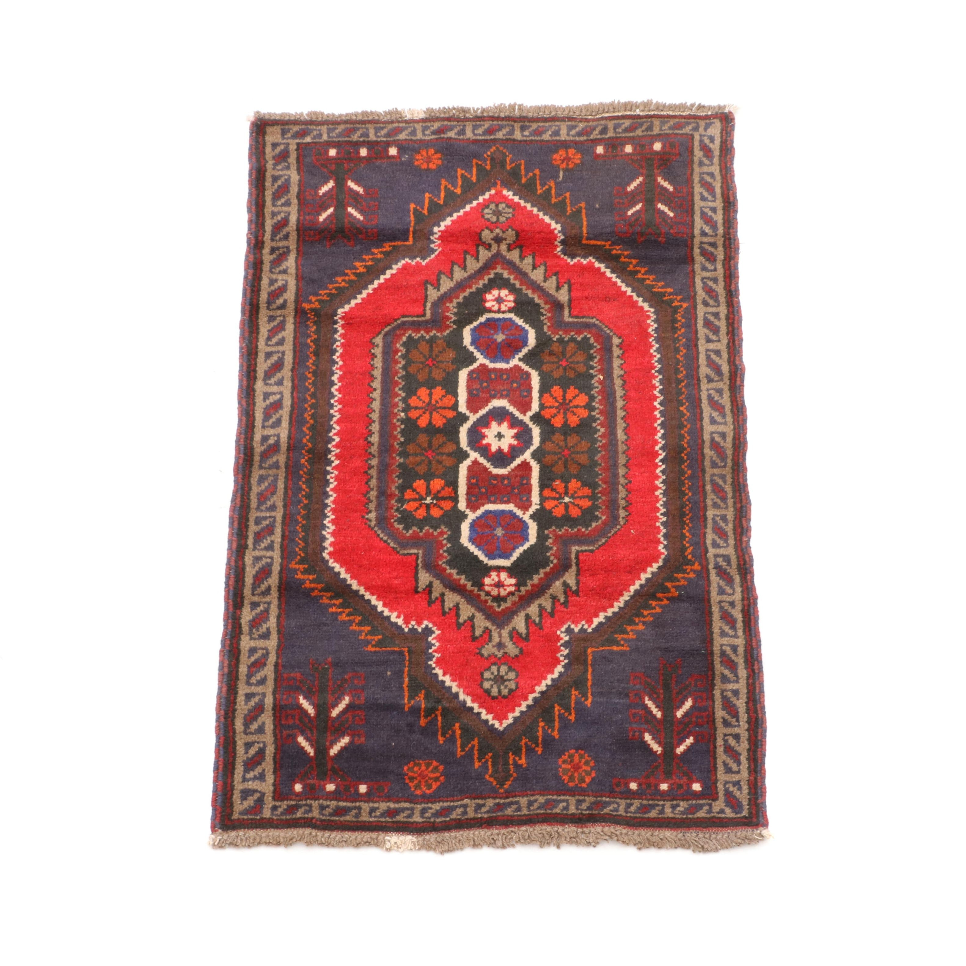 Hand-Knotted Turkish Wool Accent Rug