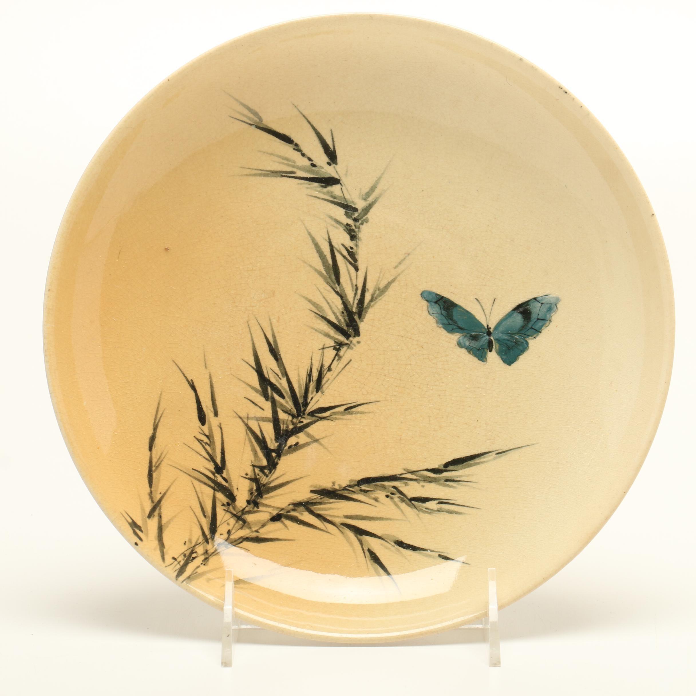 Martin Rettig Rookwood Pottery Scenic Plate, circa 1885
