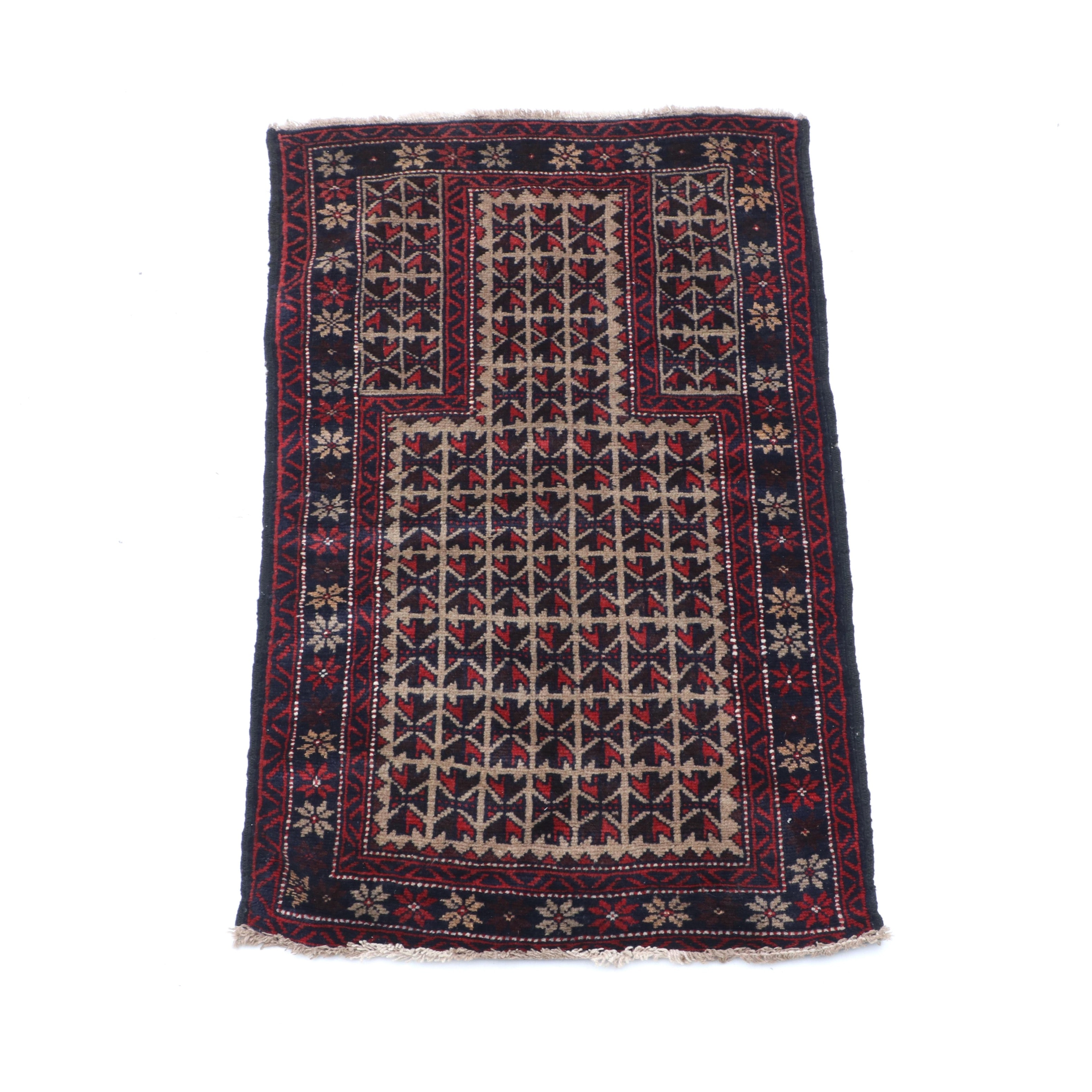 Hand-Knotted Persian Quchan Accent Rug