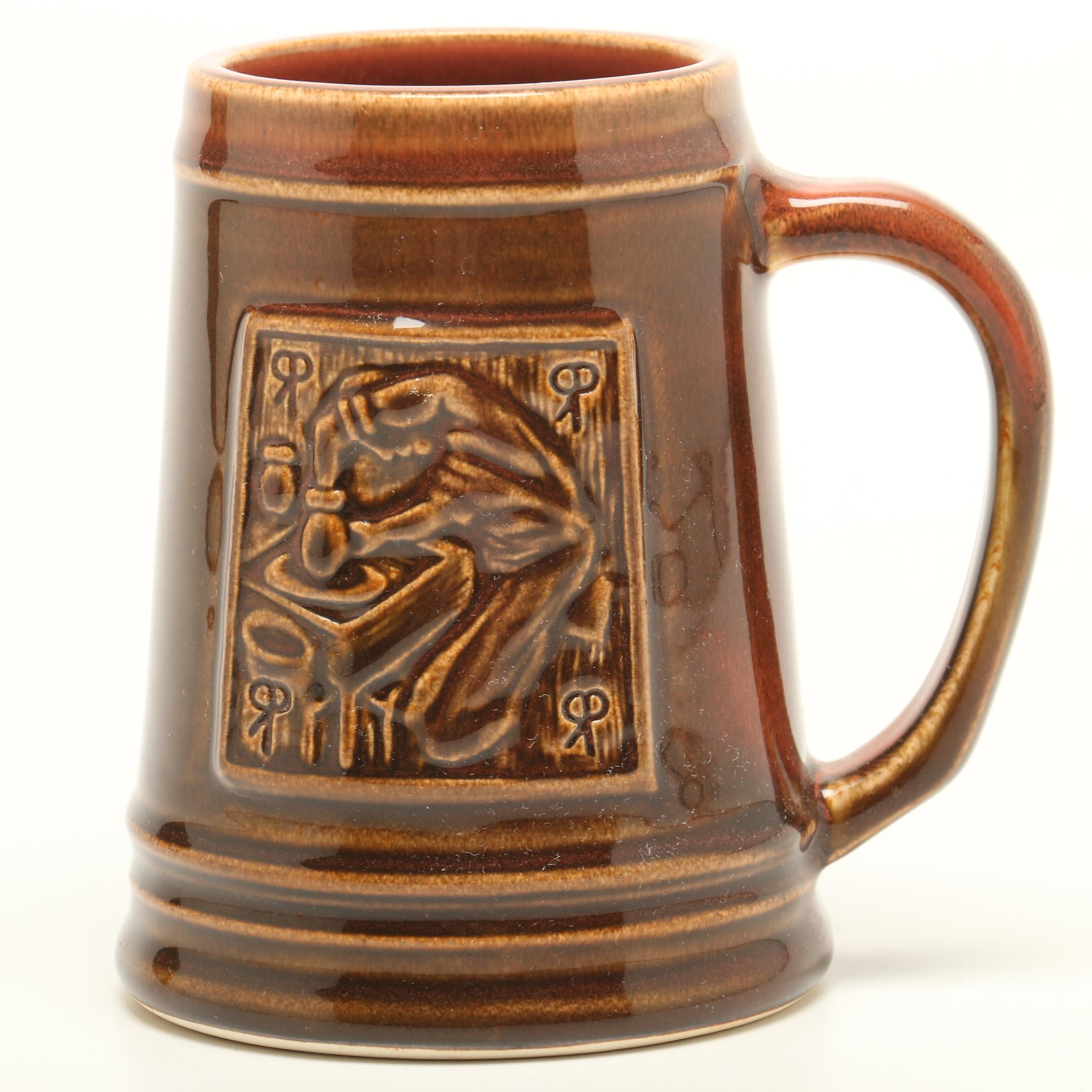 """George Hibben Rookwood Pottery """"Potter at the Wheel"""" Contemporary Stein"""