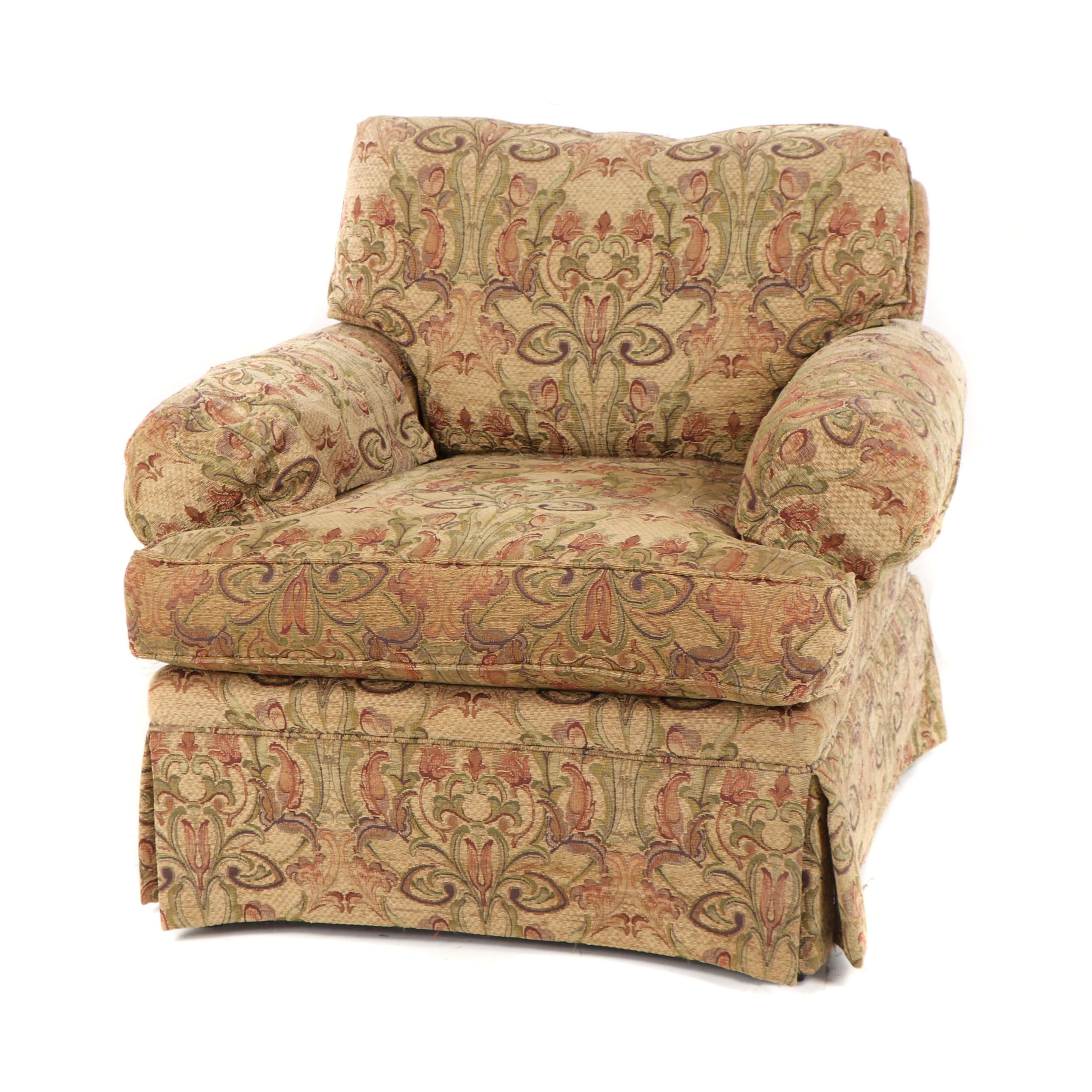 Floral Pattern Upholstered Armchair by Robb & Stucky, 21st Century