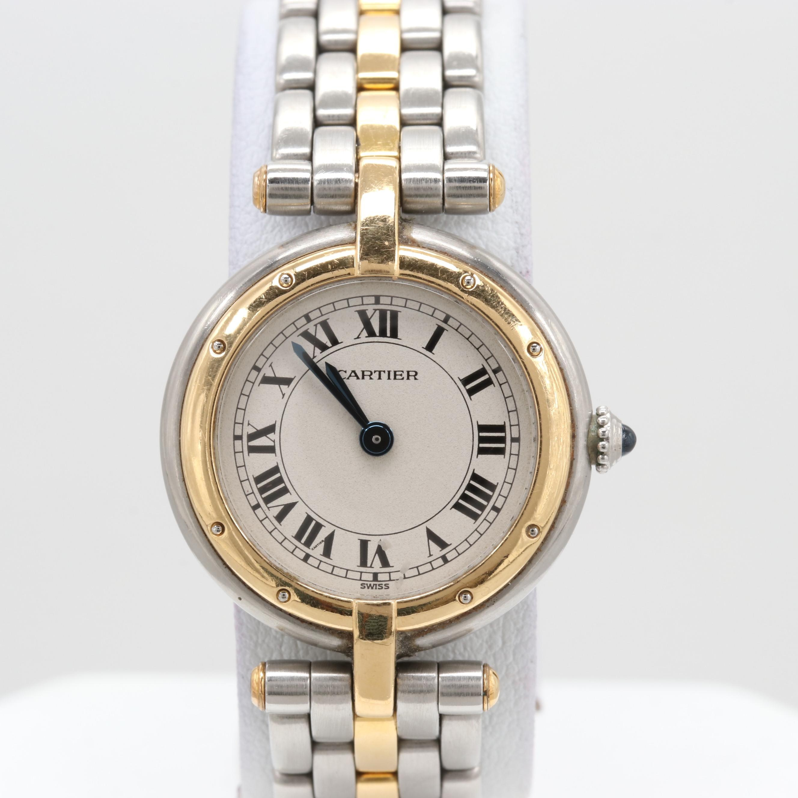 Cartier Panthere 18K Yellow Gold and Stainless Steel Wristwatches