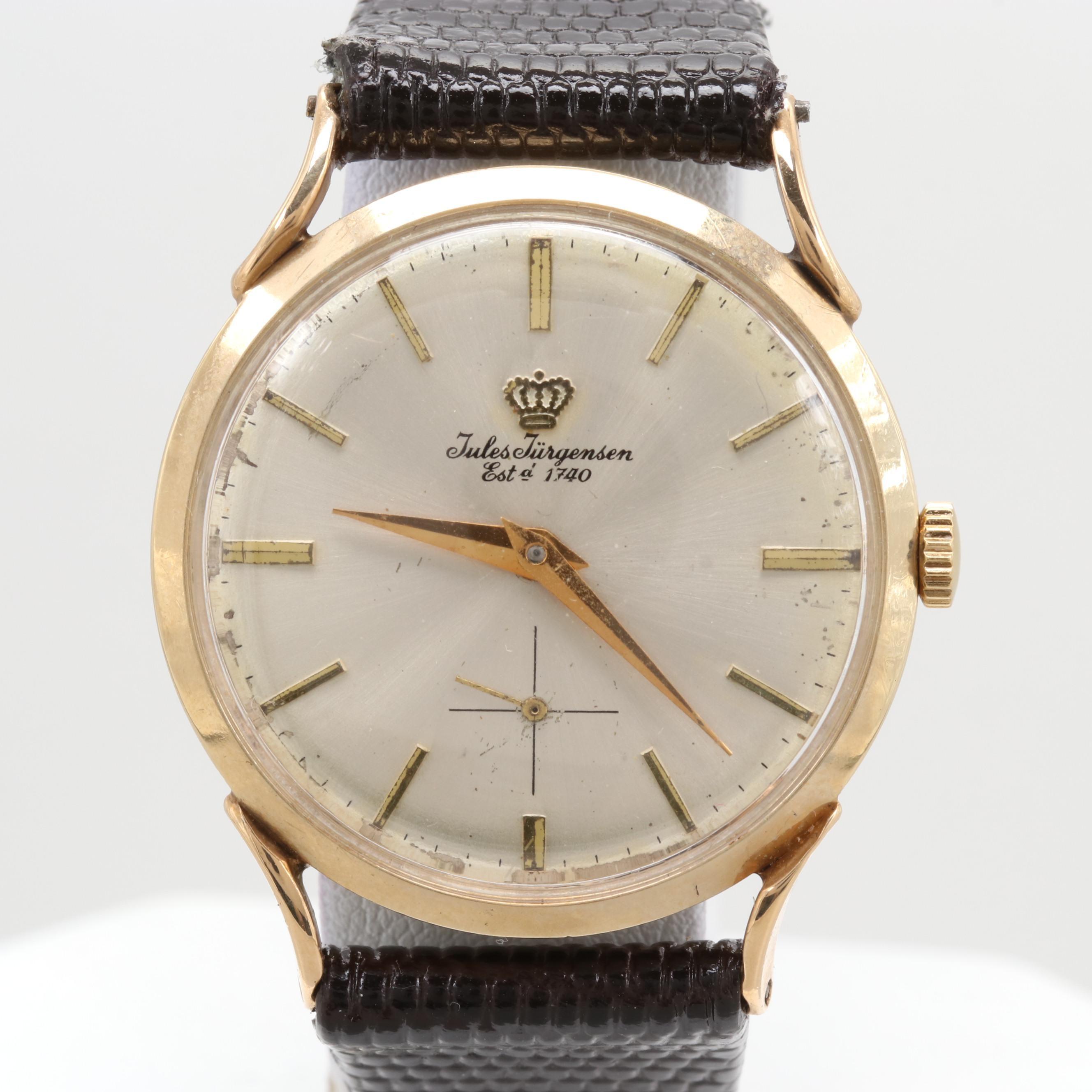 Jules Jurgensen 14K Yellow Gold Wristwatch